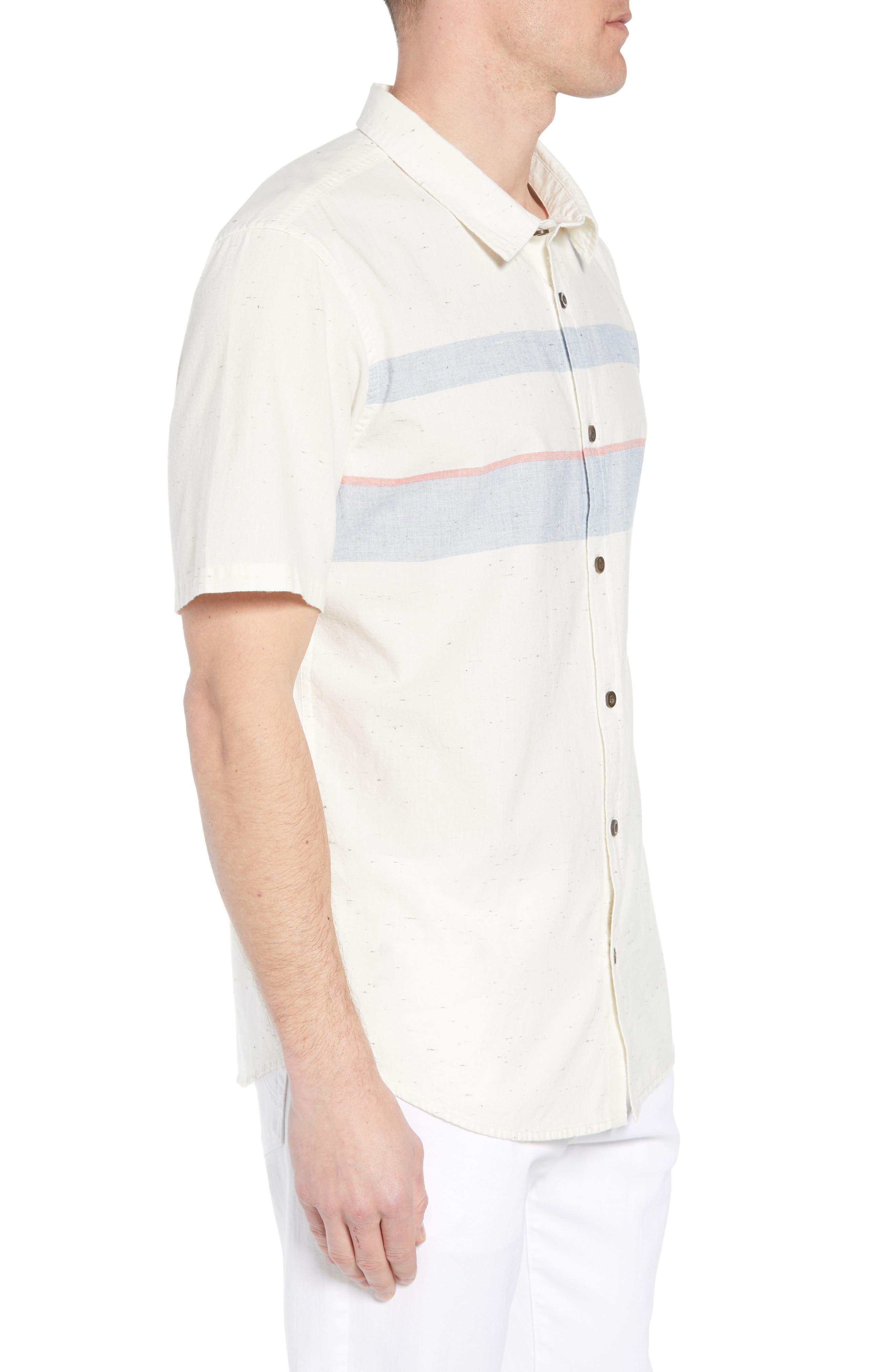 Charter Regular Fit Short Sleeve Sport Shirt,                             Alternate thumbnail 3, color,                             WHITE