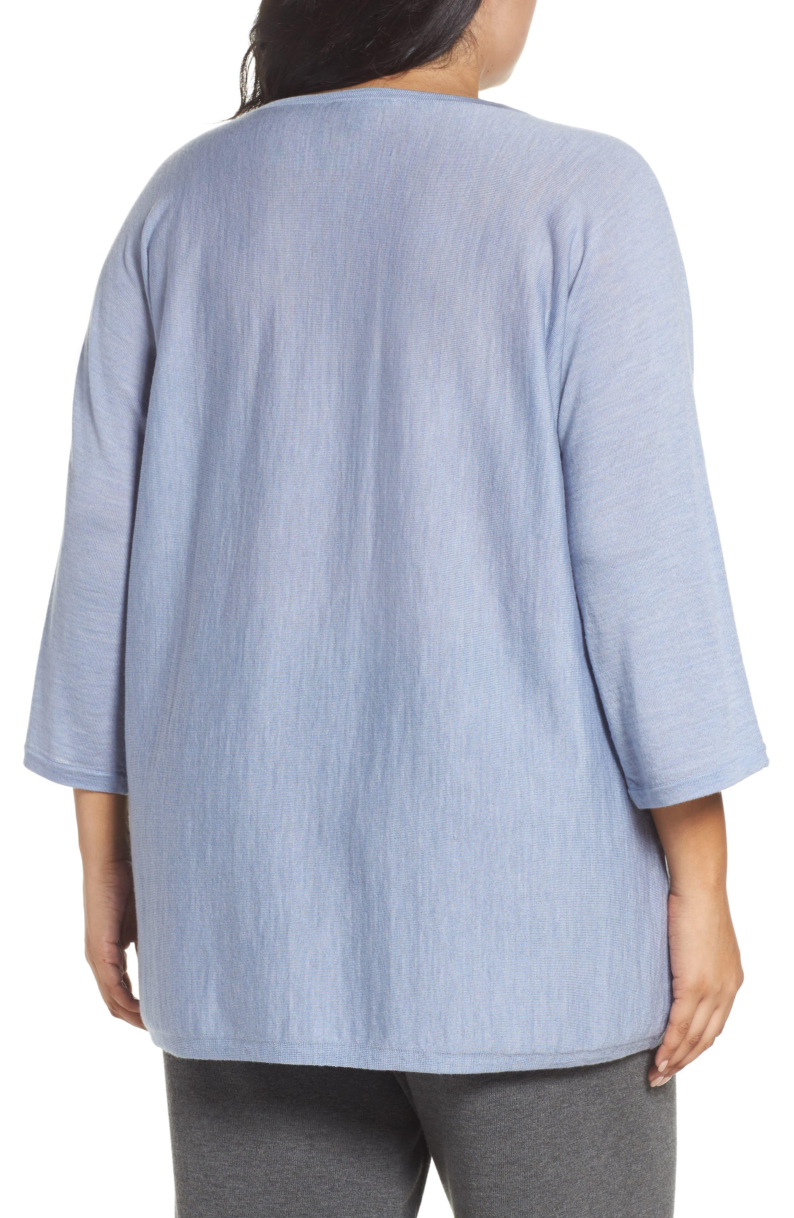 Round Neck Merino Sweater,                             Alternate thumbnail 2, color,                             401