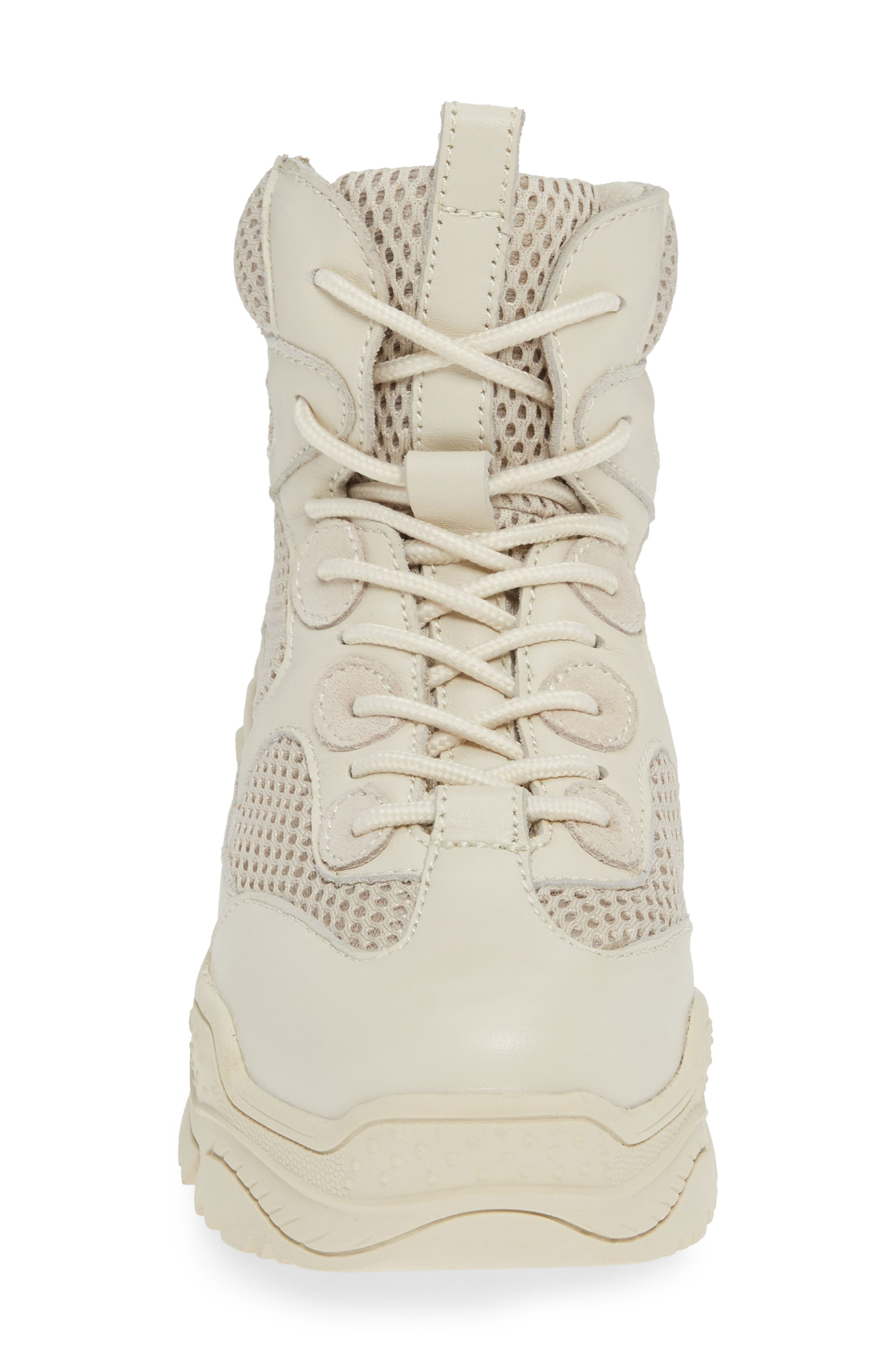 Pyro Wedge Sneaker Boot,                             Alternate thumbnail 4, color,                             OFF WHITE COMBO