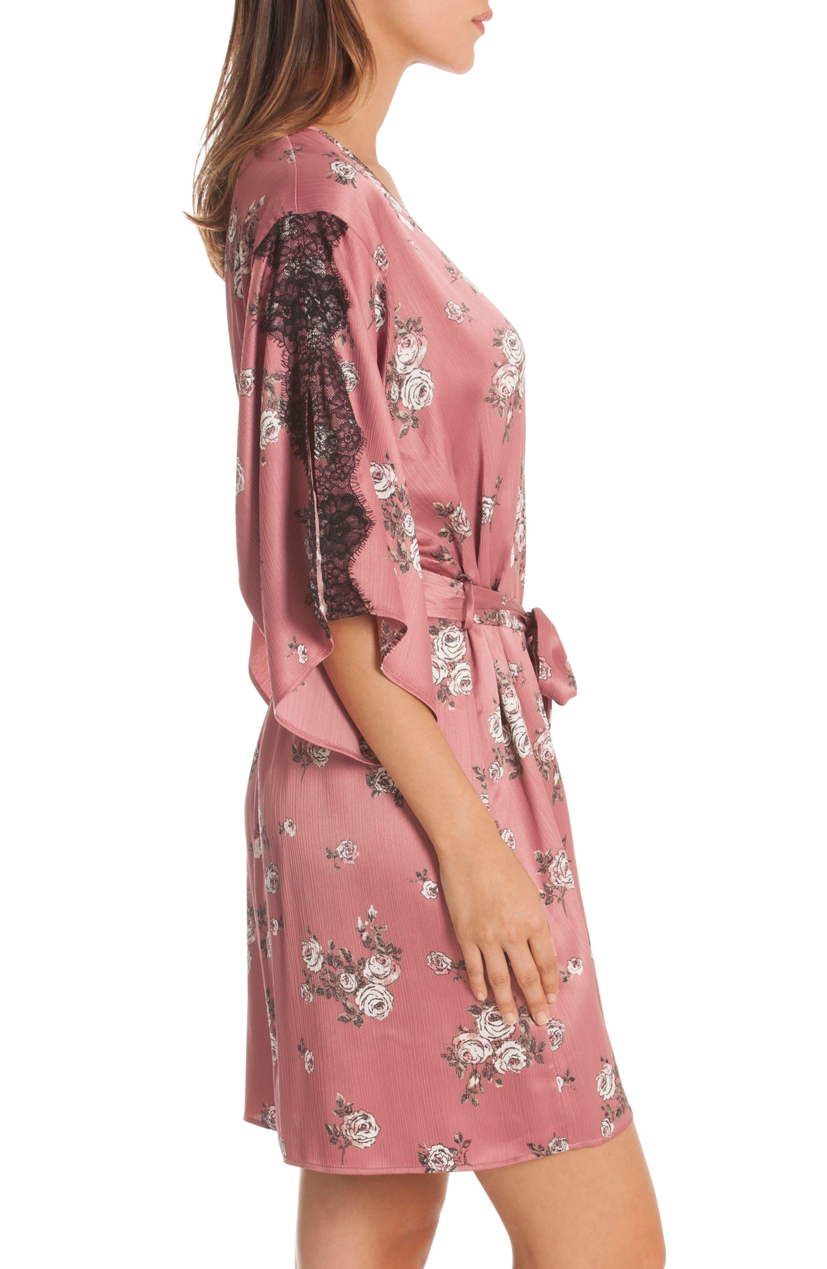 Tegan Kimono Wrap,                             Alternate thumbnail 3, color,                             ROSE