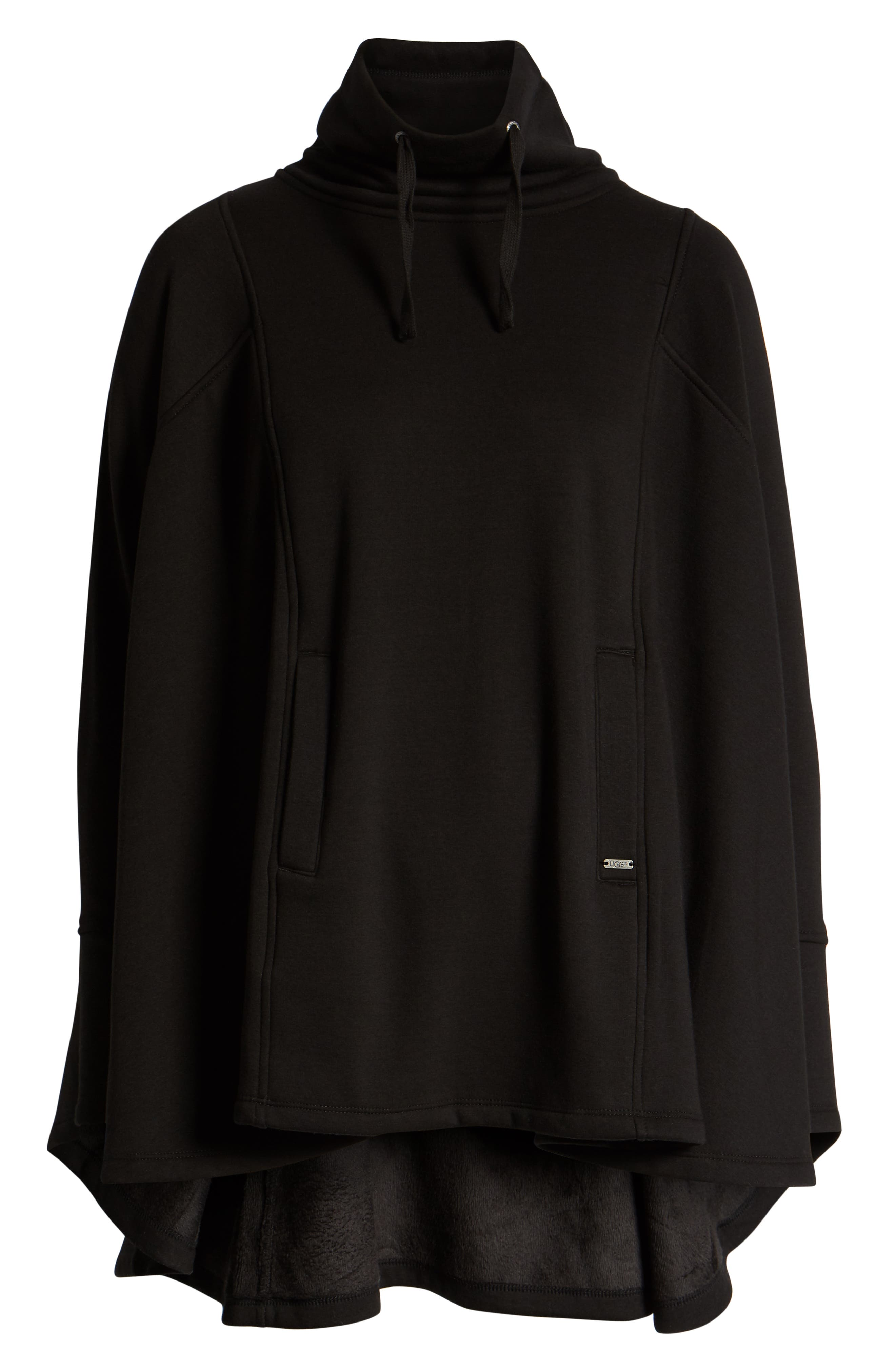 UGG<SUP>®</SUP>,                             Pichot Turtleneck Poncho,                             Alternate thumbnail 2, color,                             BLACK