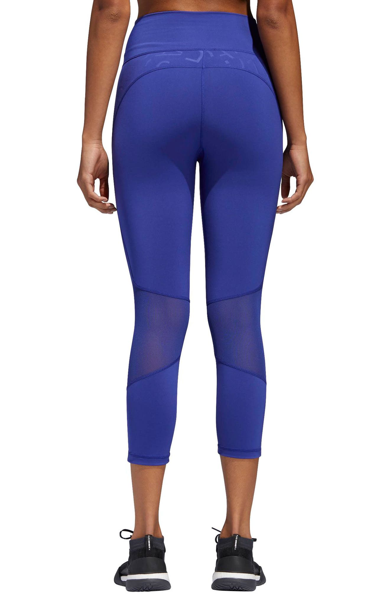 Adihack Crop Tights,                             Alternate thumbnail 2, color,                             500