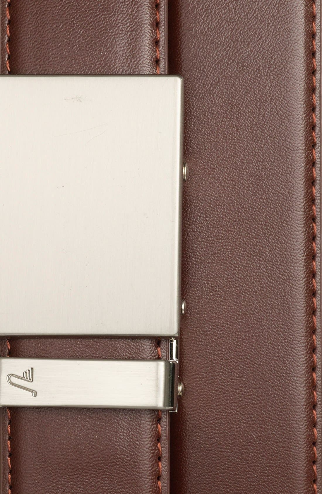 'Steel' Leather Belt,                             Alternate thumbnail 2, color,                             STEEL/ CHOCOLATE