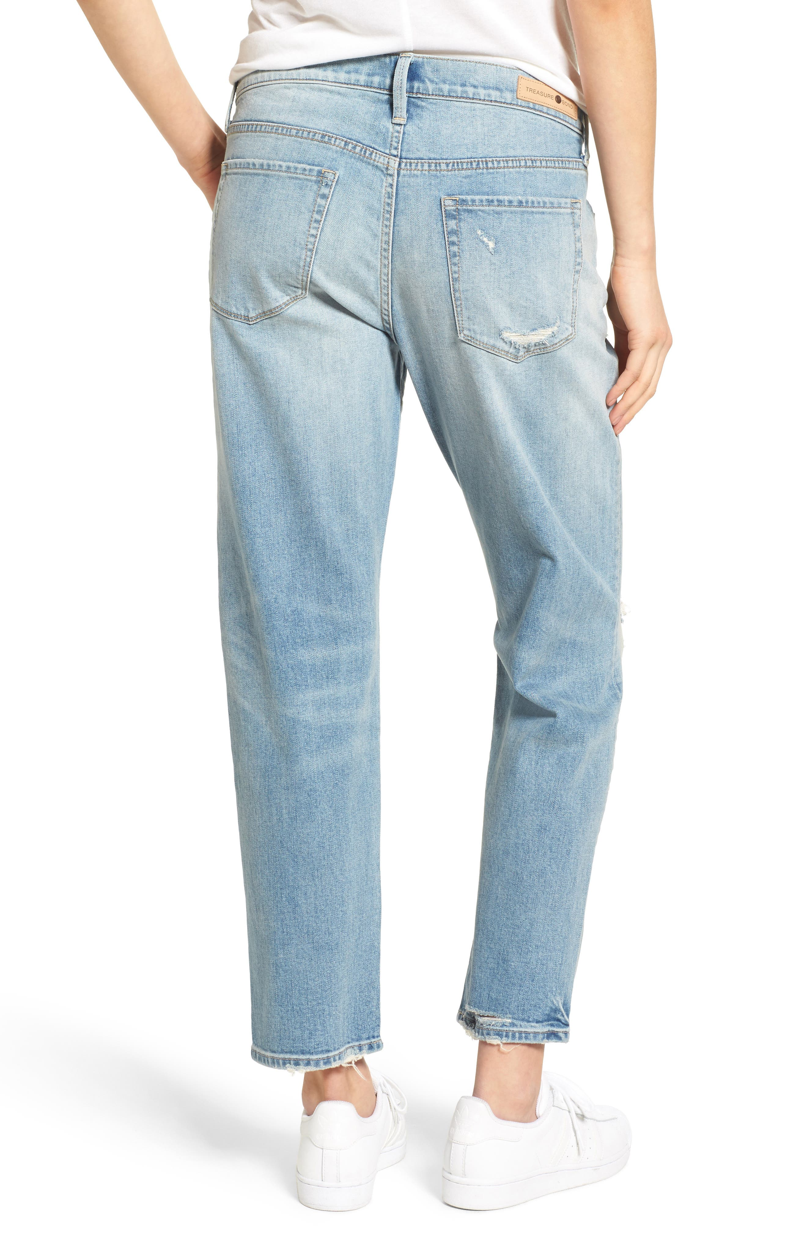 TREASURE & BOND,                             Boyfriend Jeans,                             Alternate thumbnail 2, color,                             400
