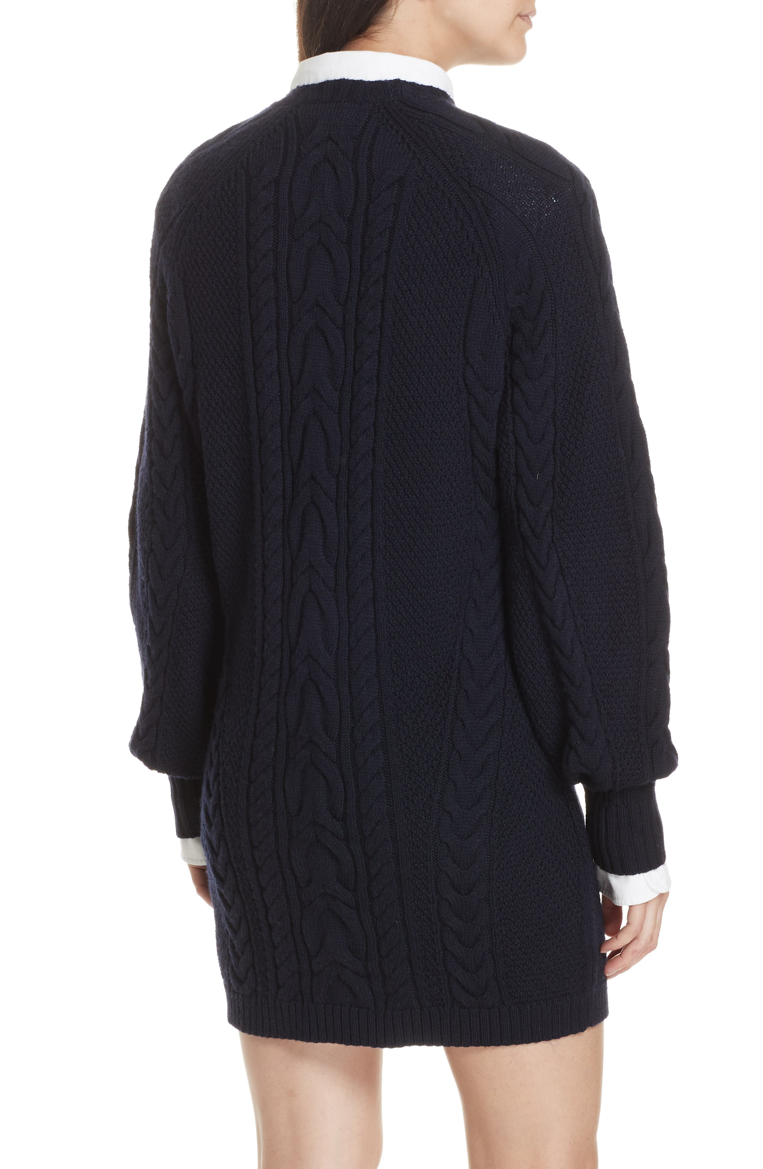 Cable Sweater Dress,                             Alternate thumbnail 2, color,                             410