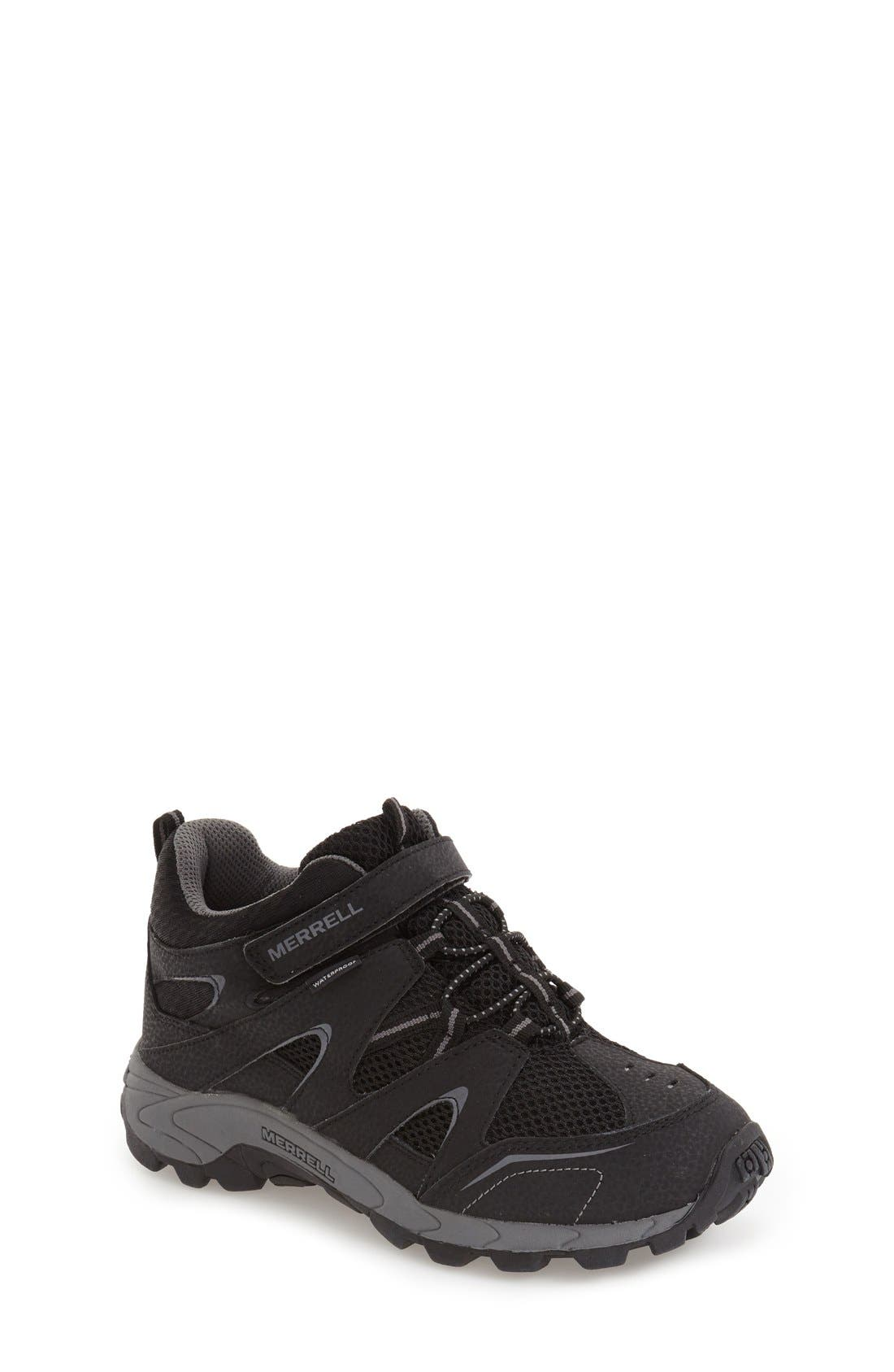 'Hilltop' Waterproof Sneaker,                             Main thumbnail 1, color,                             001