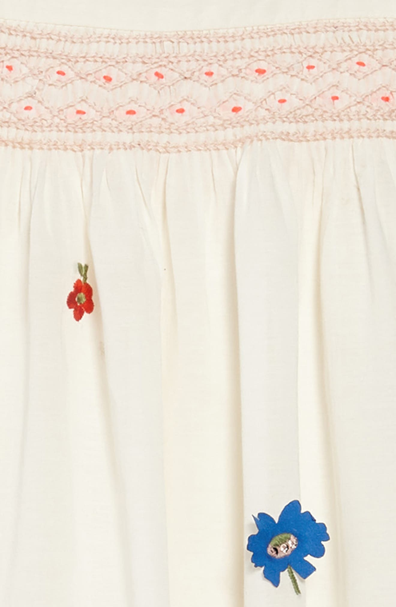 Embroidered Smock Dress,                             Alternate thumbnail 3, color,                             902