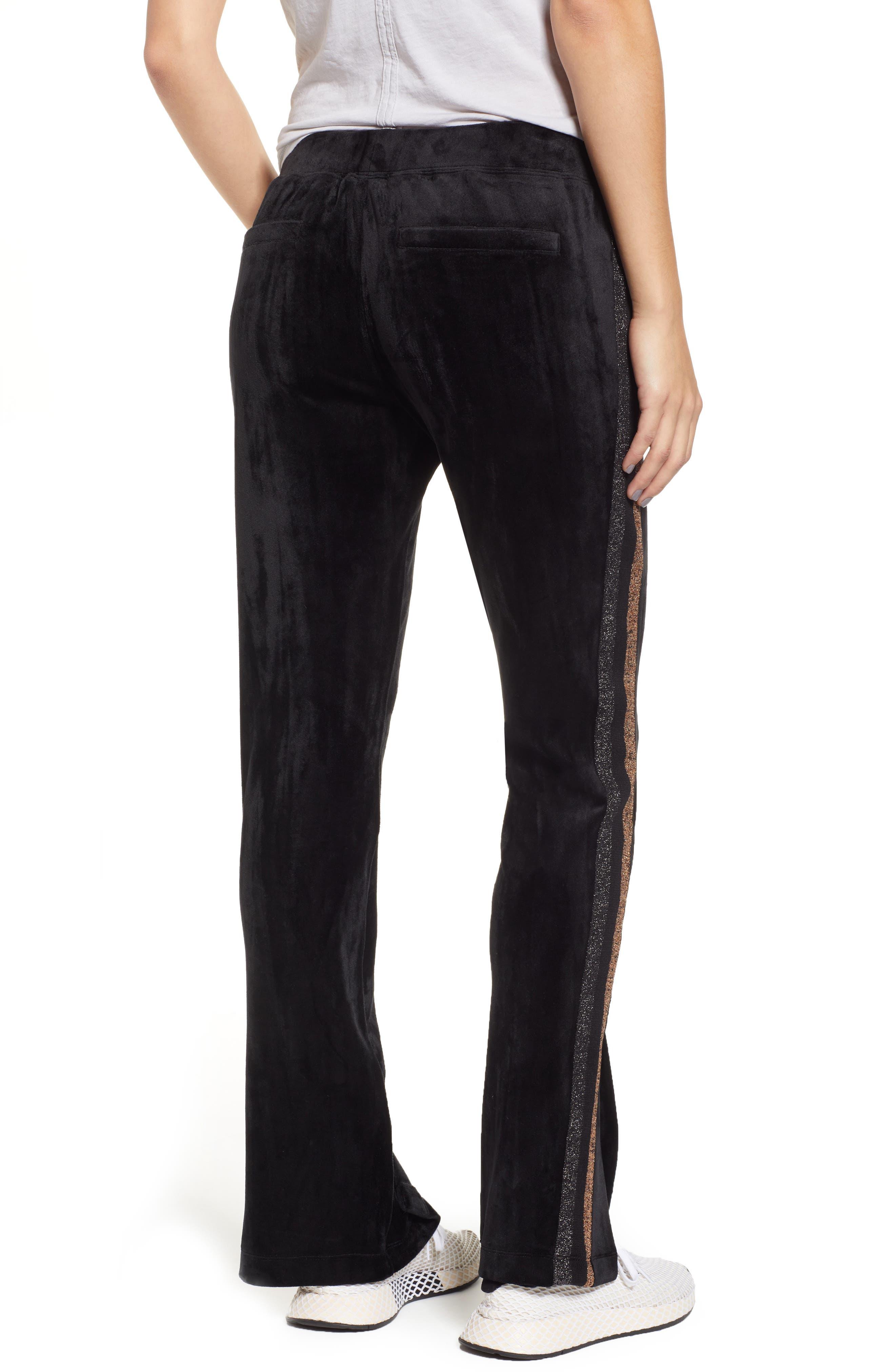 Shimmer Stripe Track Pants,                             Alternate thumbnail 2, color,                             001