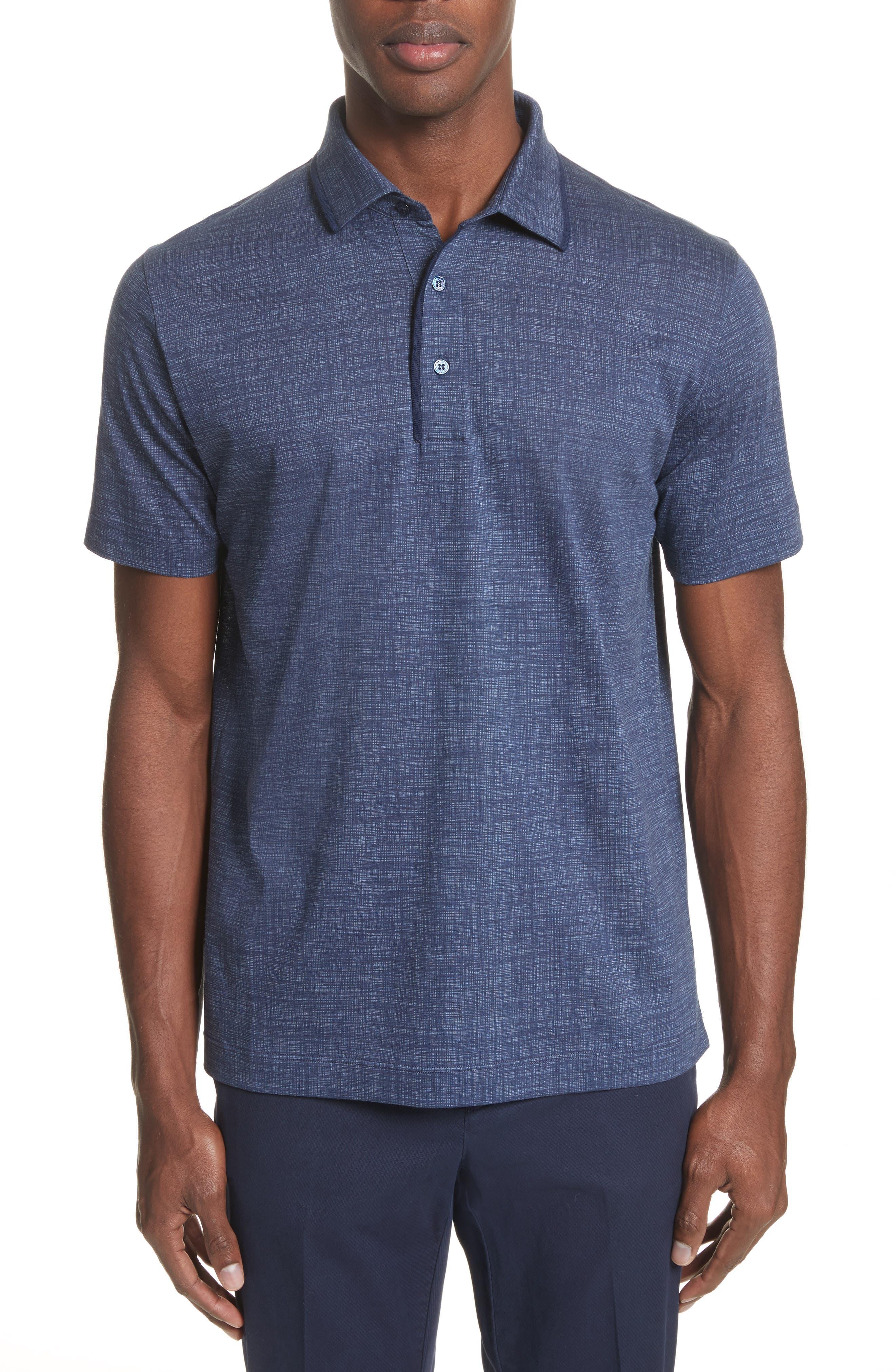 Cotton Polo Shirt,                         Main,                         color, 410