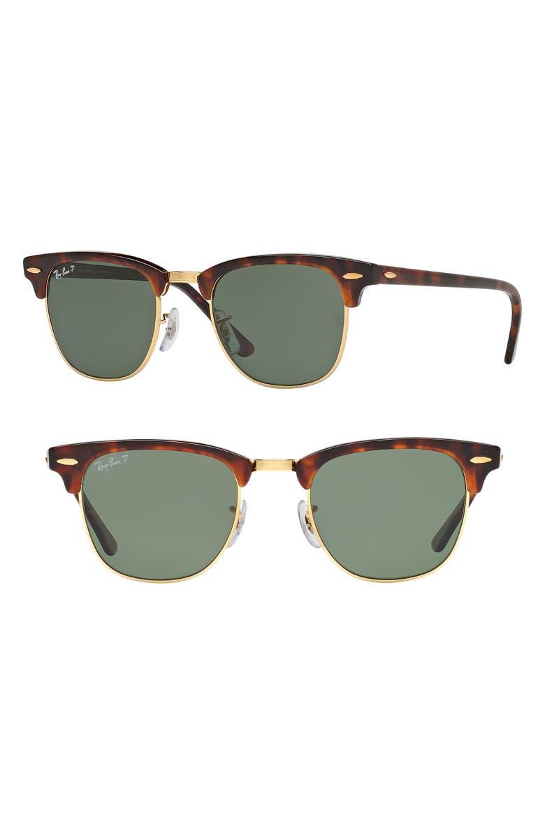 adb745648f Ray-Ban  Clubmaster  49mm Polarized Sunglasses