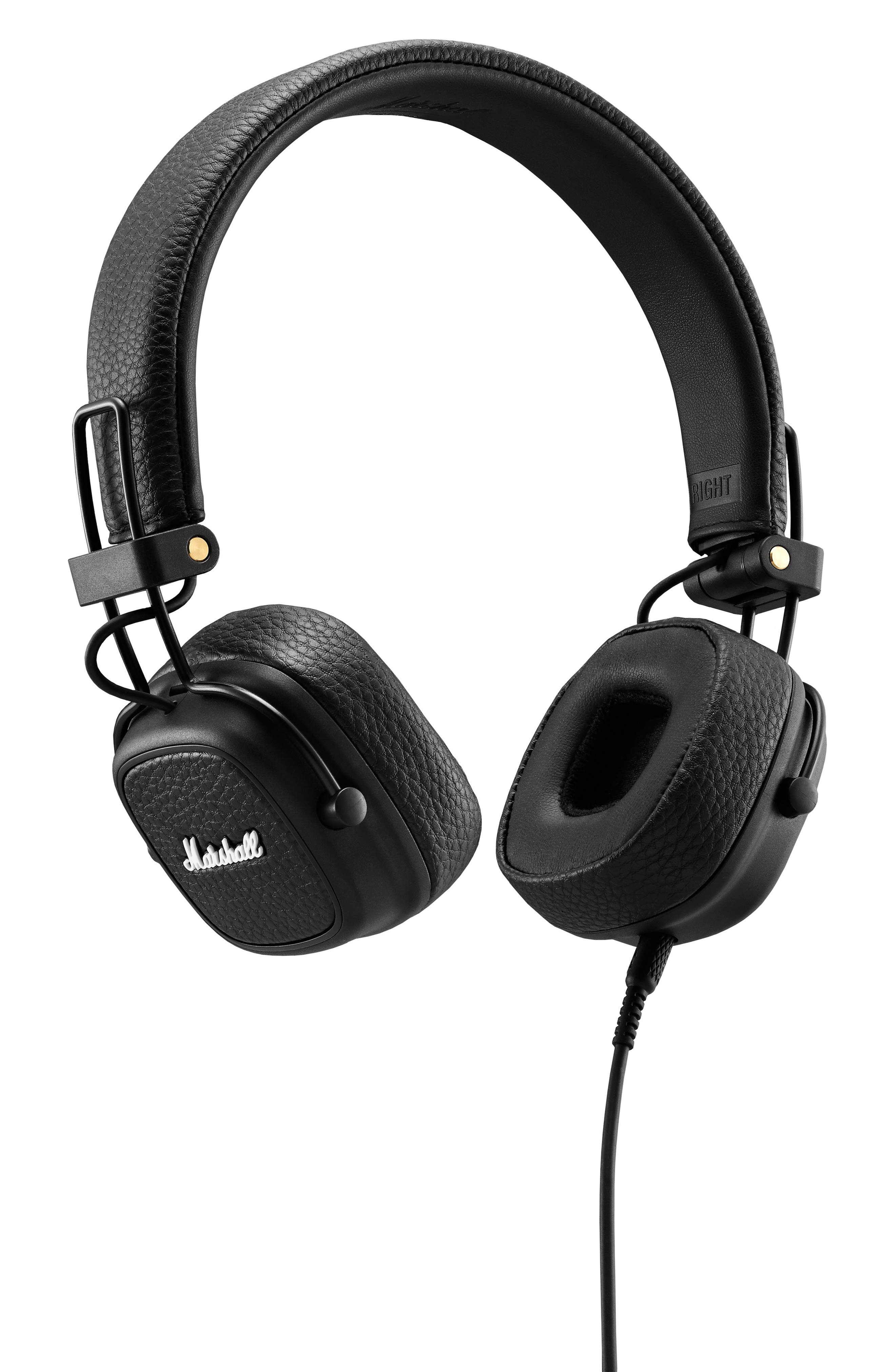 Major III Wired Headphones,                             Main thumbnail 1, color,                             BLACK