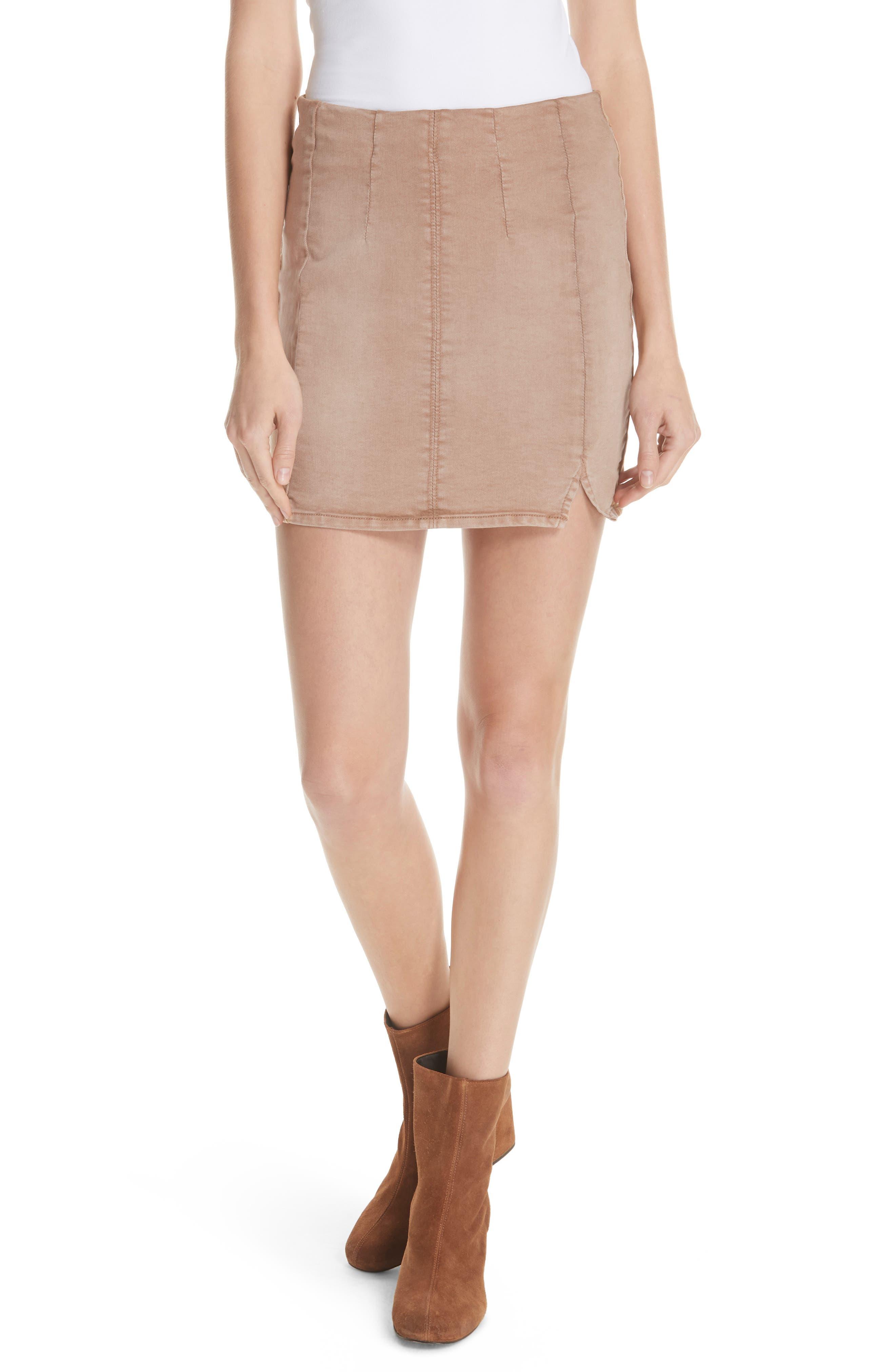 Femme Fatale Pull On Skirt,                         Main,                         color, KHAKI