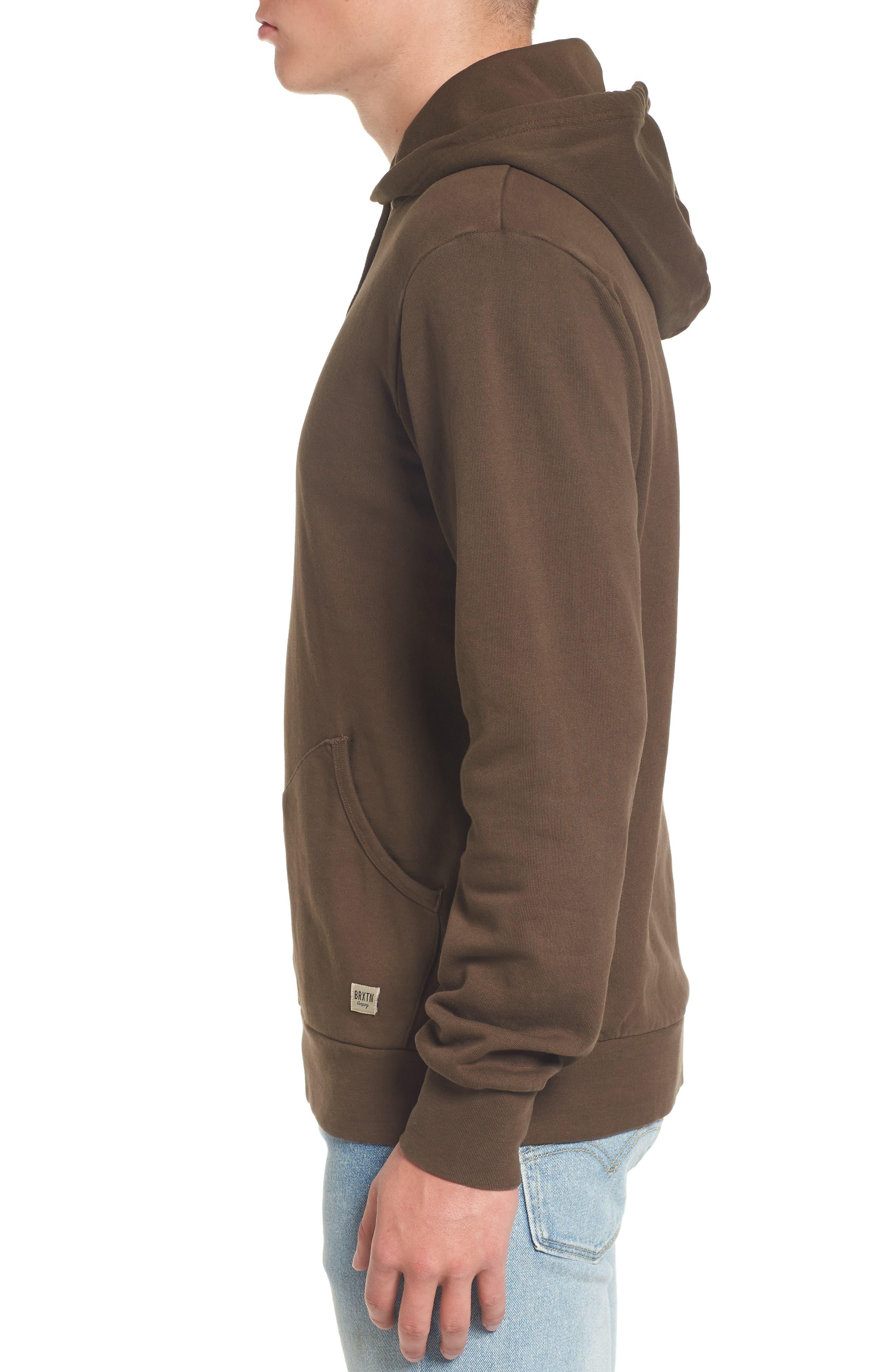 Hooded Fleece Sweatshirt,                             Alternate thumbnail 3, color,                             210