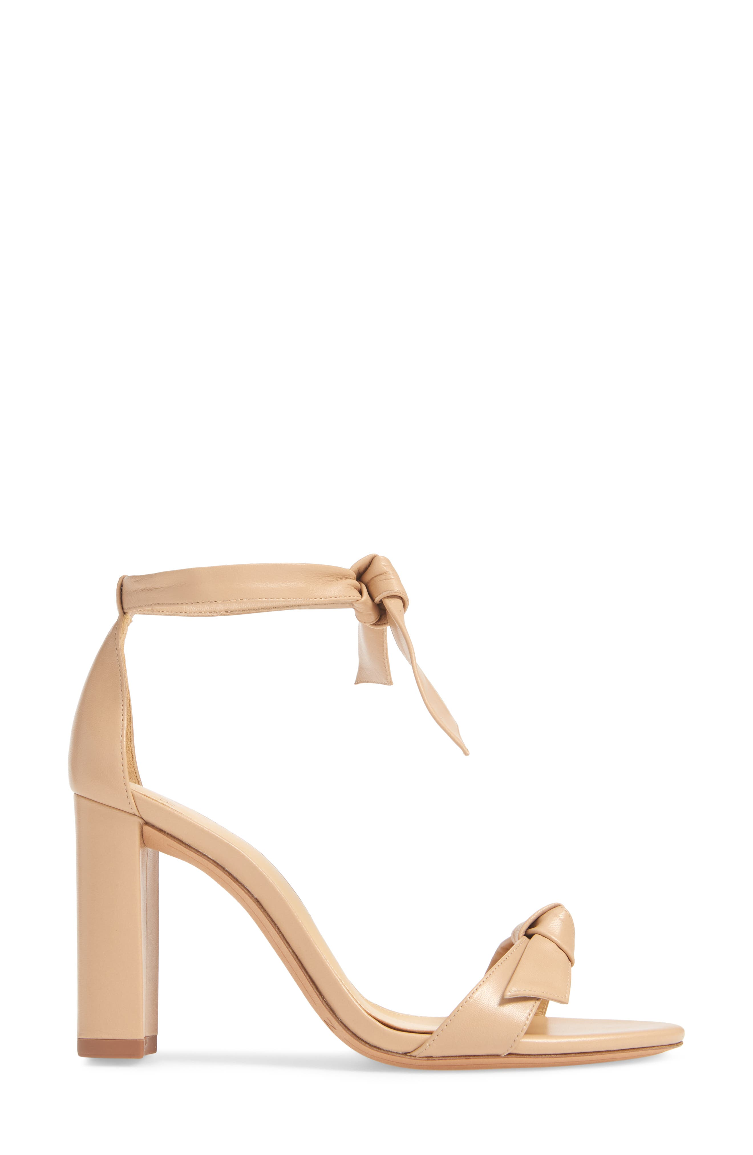 Clarita Knotted Sandal,                             Alternate thumbnail 3, color,                             NUDE LEATHER