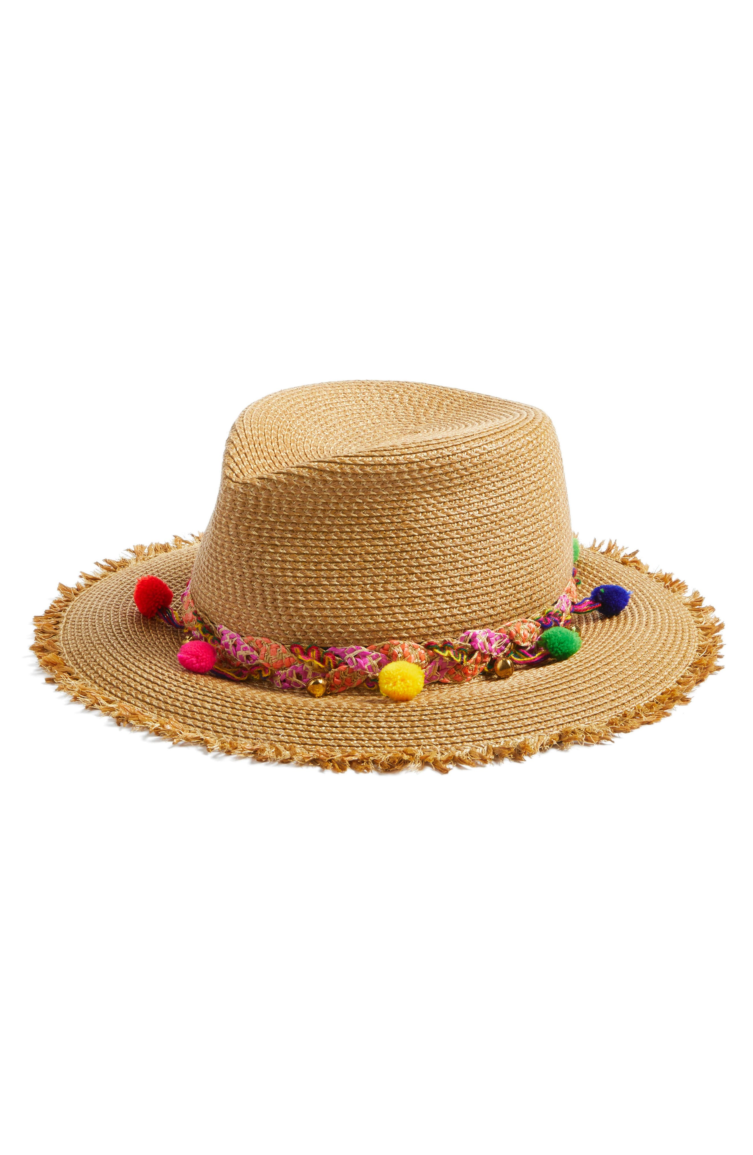 Corfu Packable Squishee<sup>®</sup> Straw Hat,                         Main,                         color, NATURAL MIX