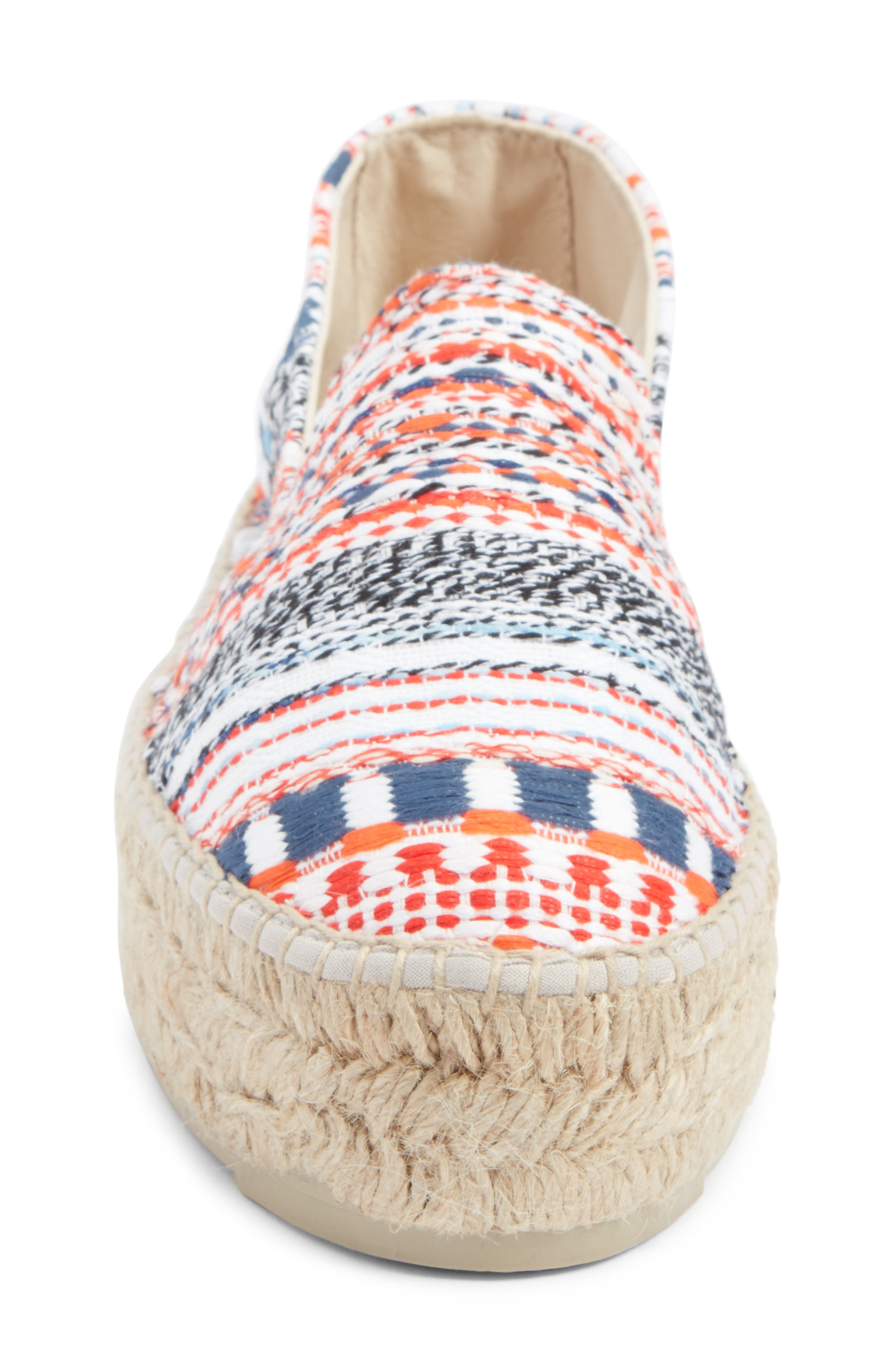 MANEBÍ Yucatan Platform Espadrille Slip-On,                             Alternate thumbnail 4, color,                             420