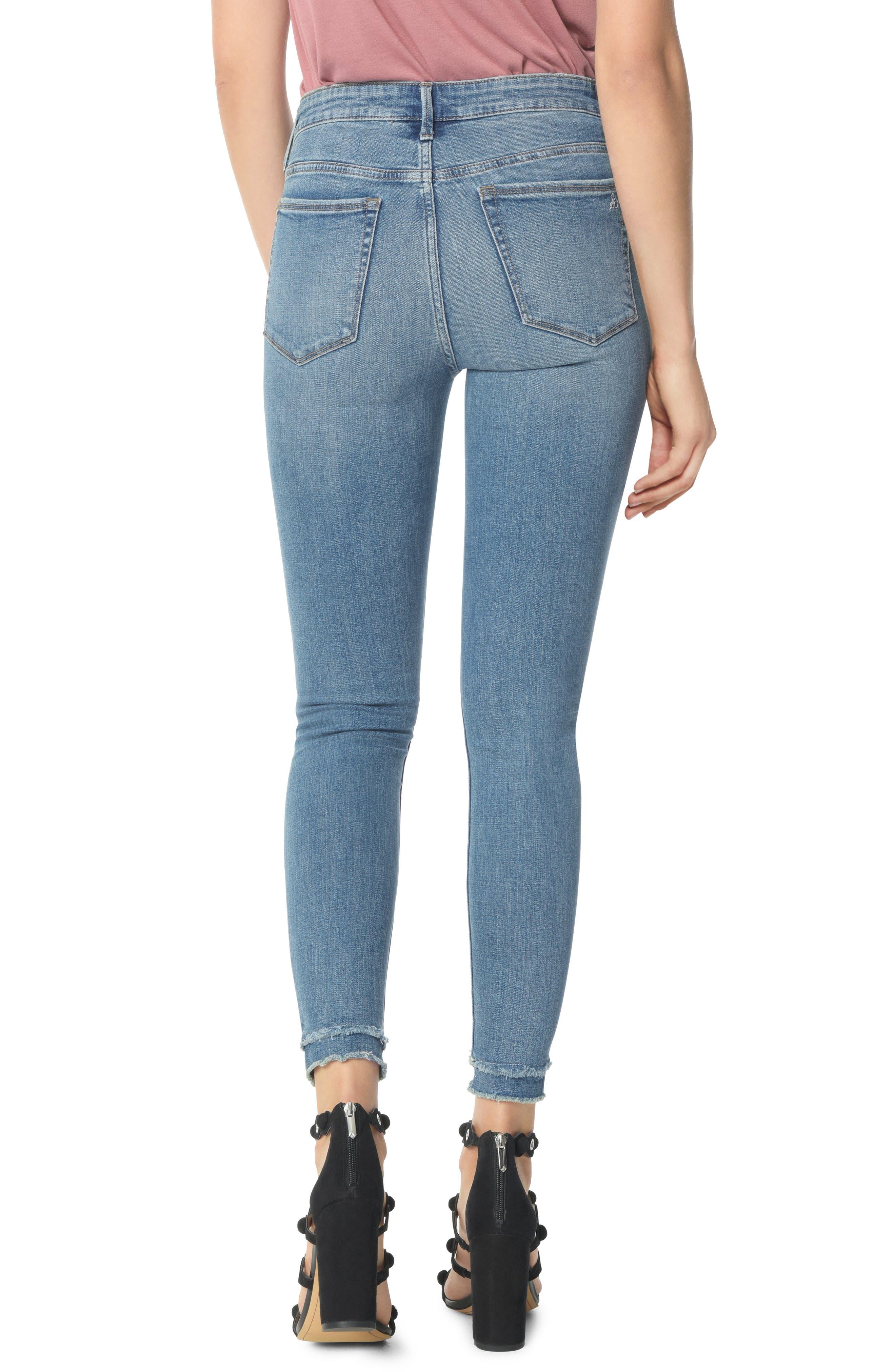 The Stiletto High Waist Double Hem Ankle Skinny Jeans,                             Alternate thumbnail 2, color,                             MARKIE