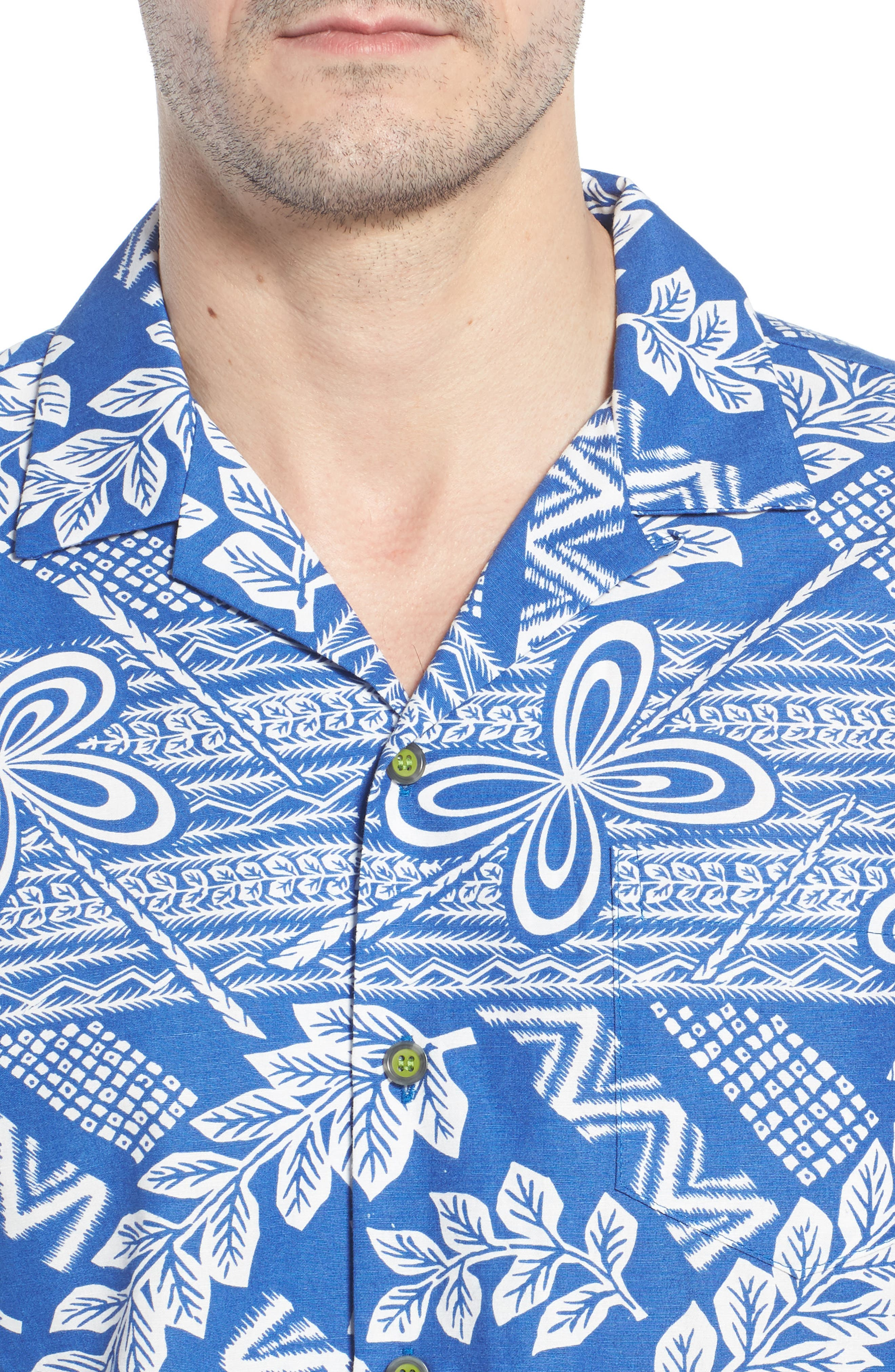 Makana Trim Fit Print Sport Shirt,                             Alternate thumbnail 4, color,                             459