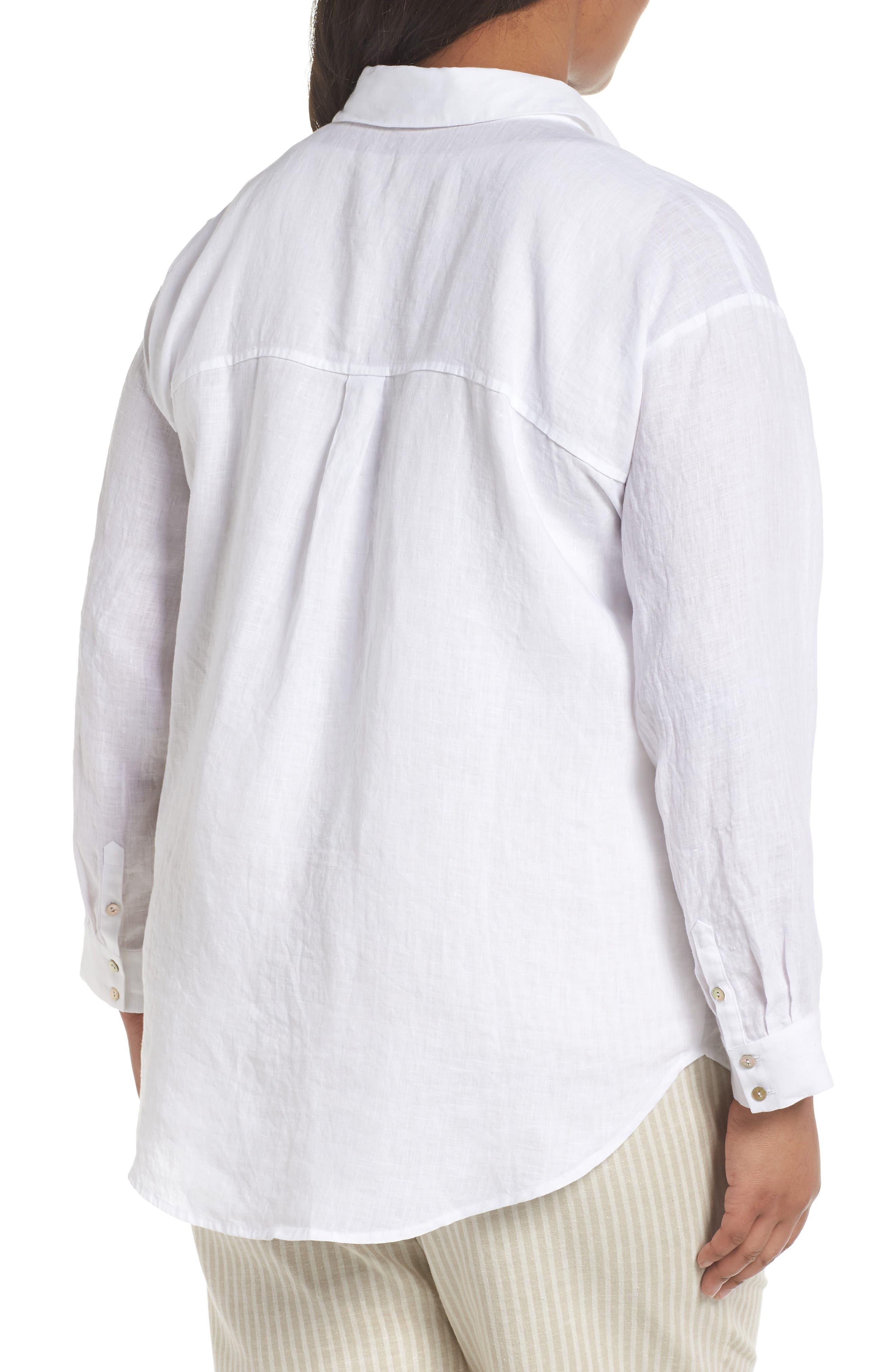 Organic Linen Shirt,                             Alternate thumbnail 2, color,                             100