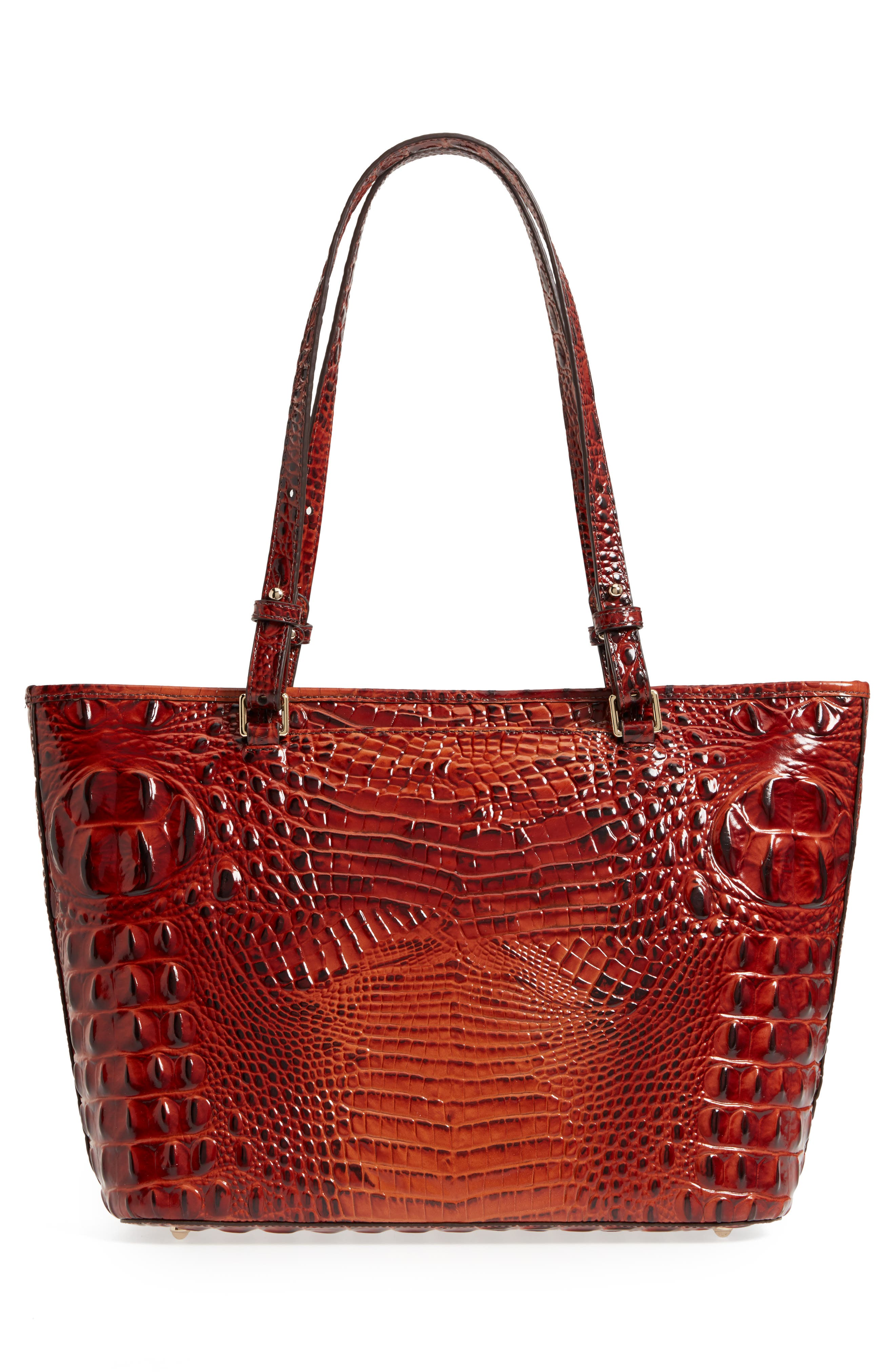 Medium Asher Leather Tote Bag,                             Alternate thumbnail 3, color,                             PECAN