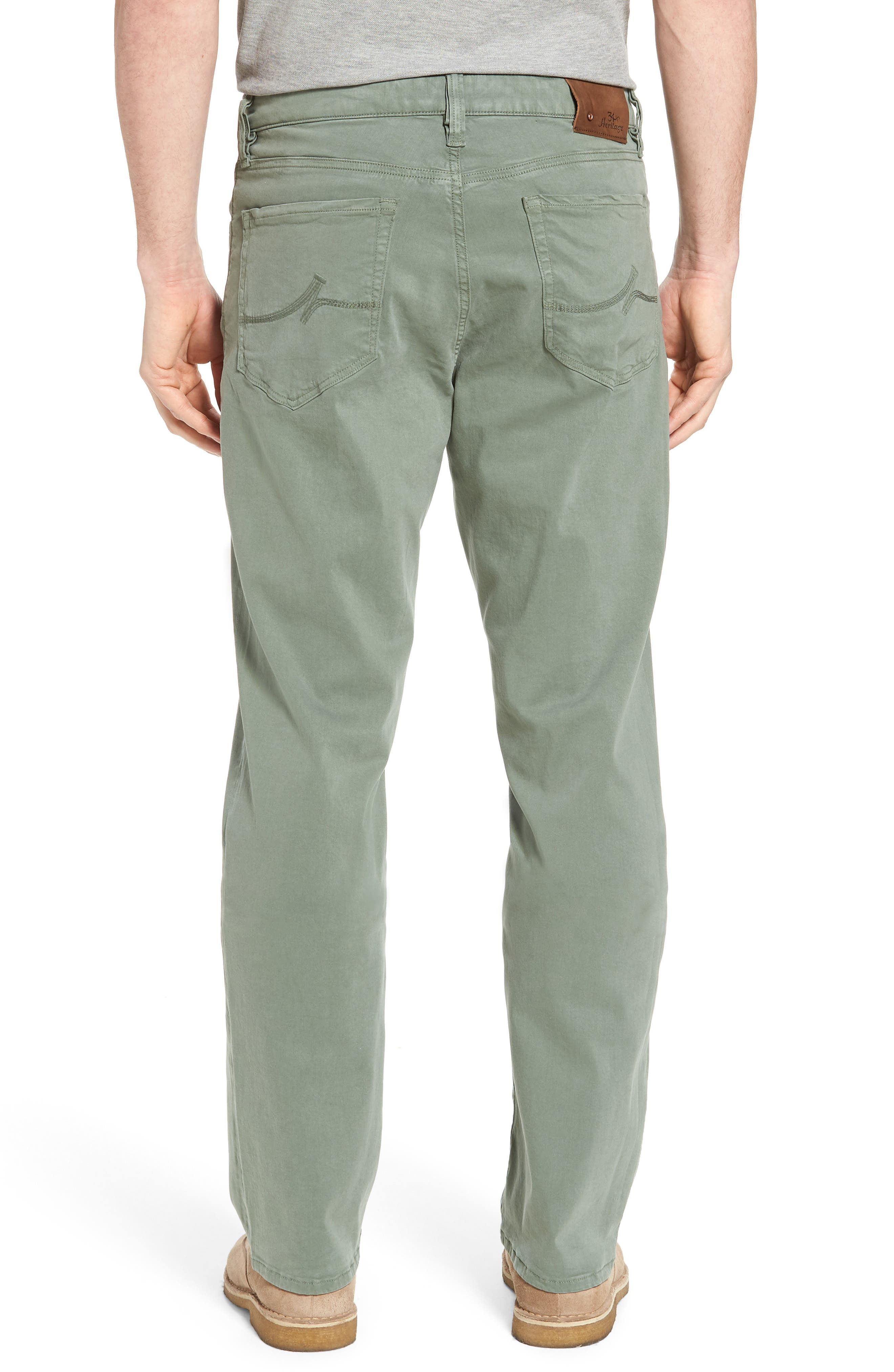 34 HERITAGE,                             Charisma Relaxed Fit Twill Pants,                             Alternate thumbnail 2, color,                             MOSS TWILL