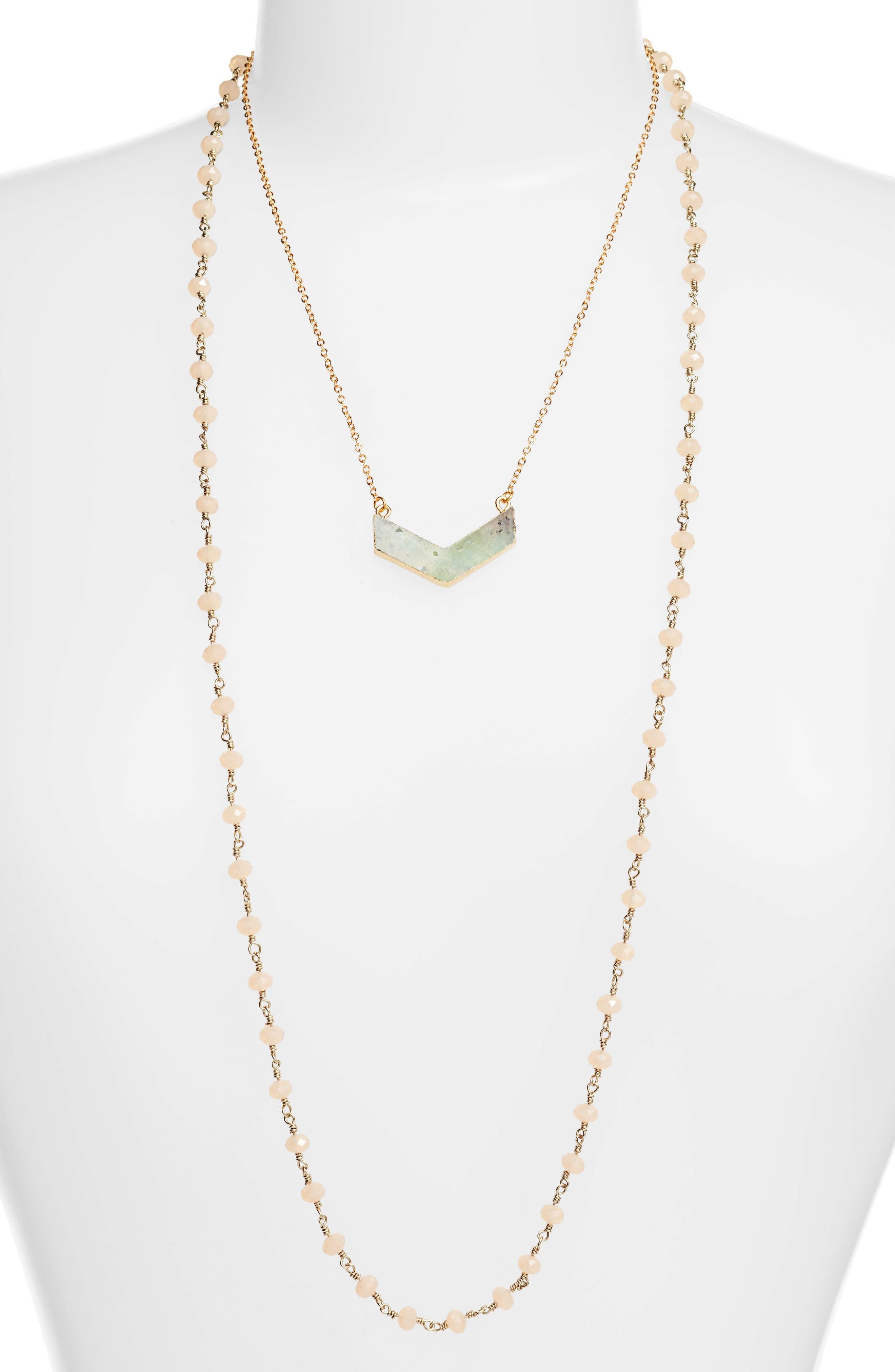 Julia Double Strand Necklace,                             Main thumbnail 4, color,