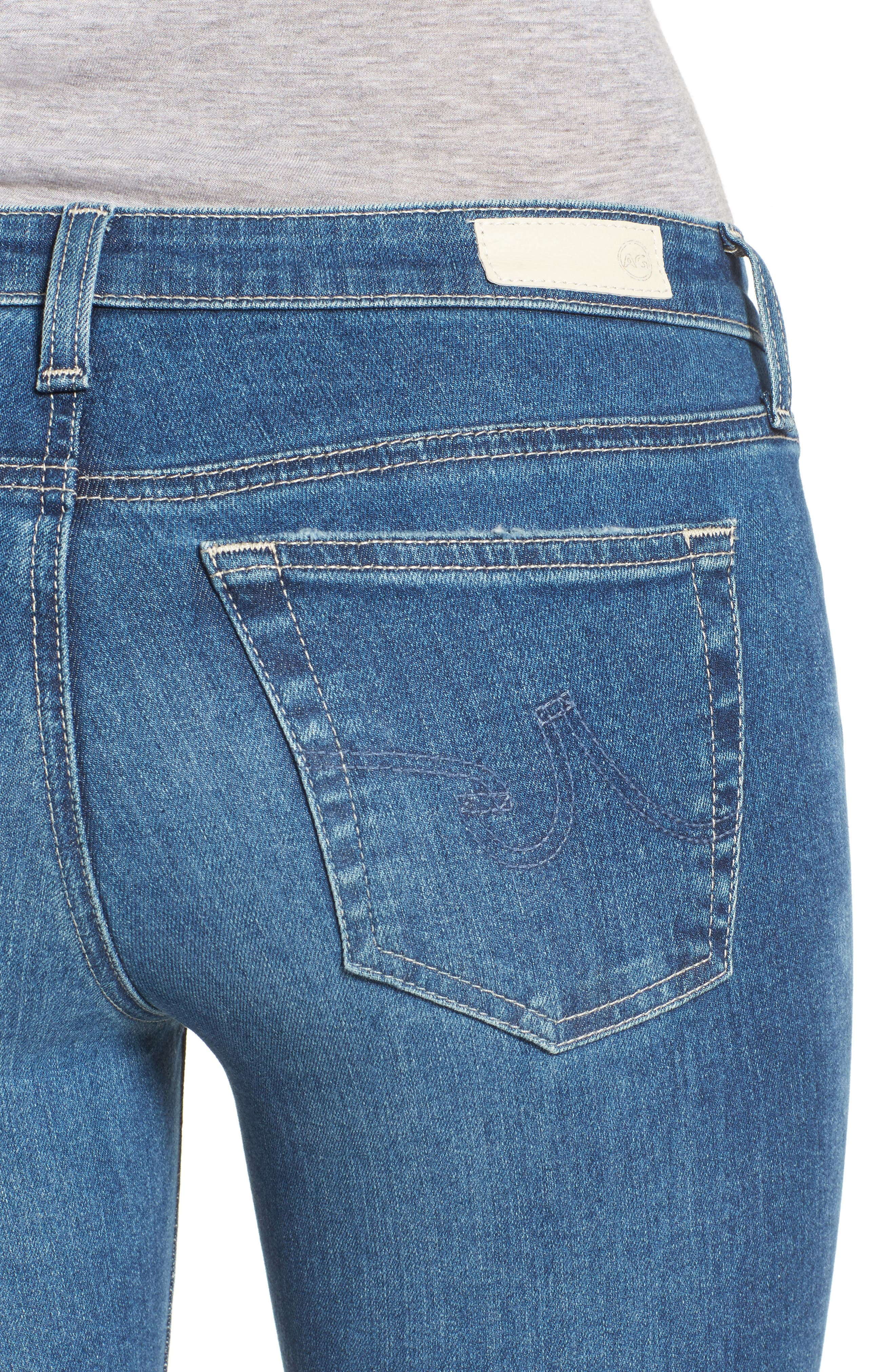 The Legging Step Hem Ankle Skinny Jeans,                             Alternate thumbnail 4, color,                             462