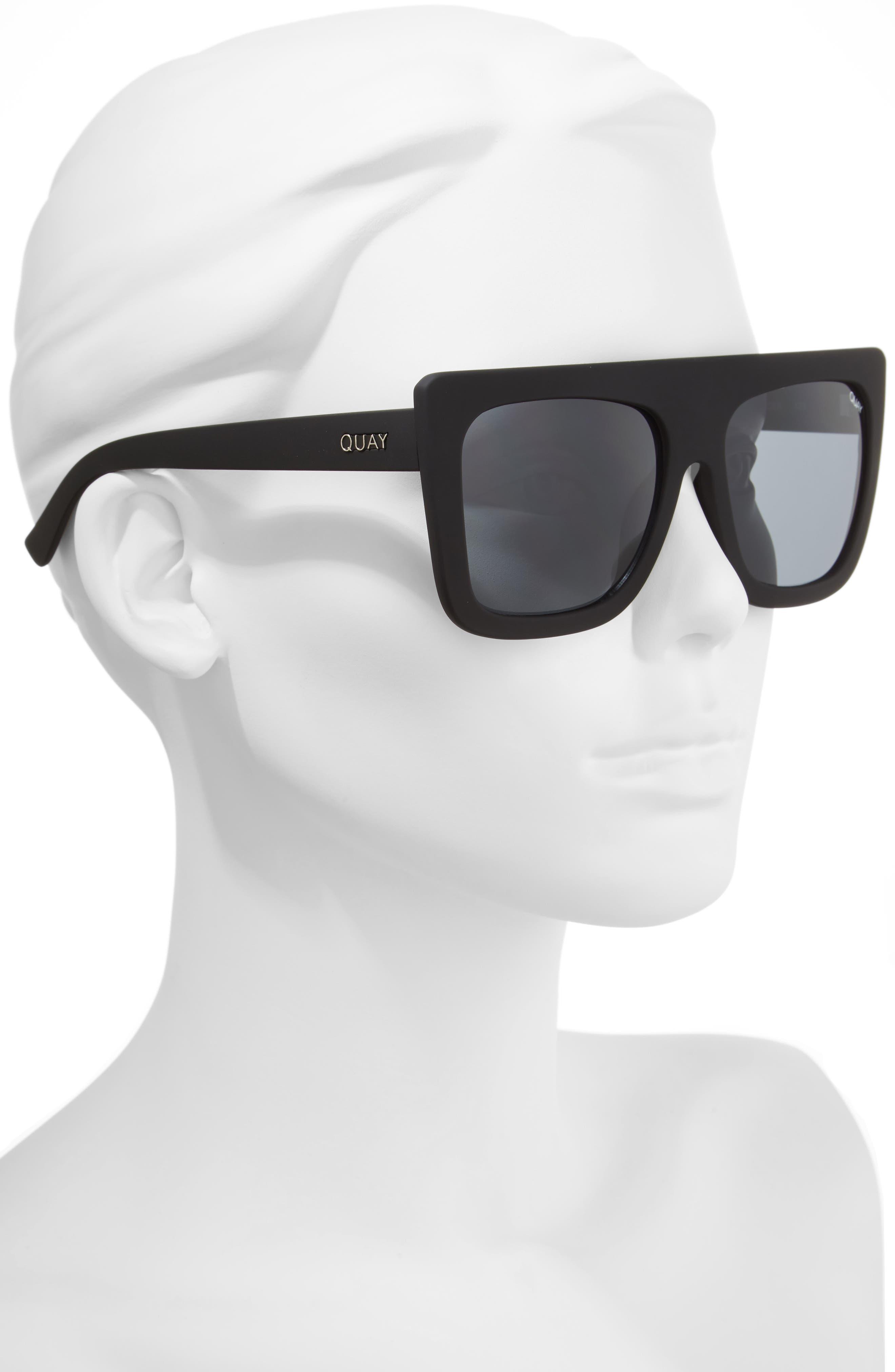 Cafe Racer 55mm Square Sunglasses,                             Alternate thumbnail 3, color,                             001