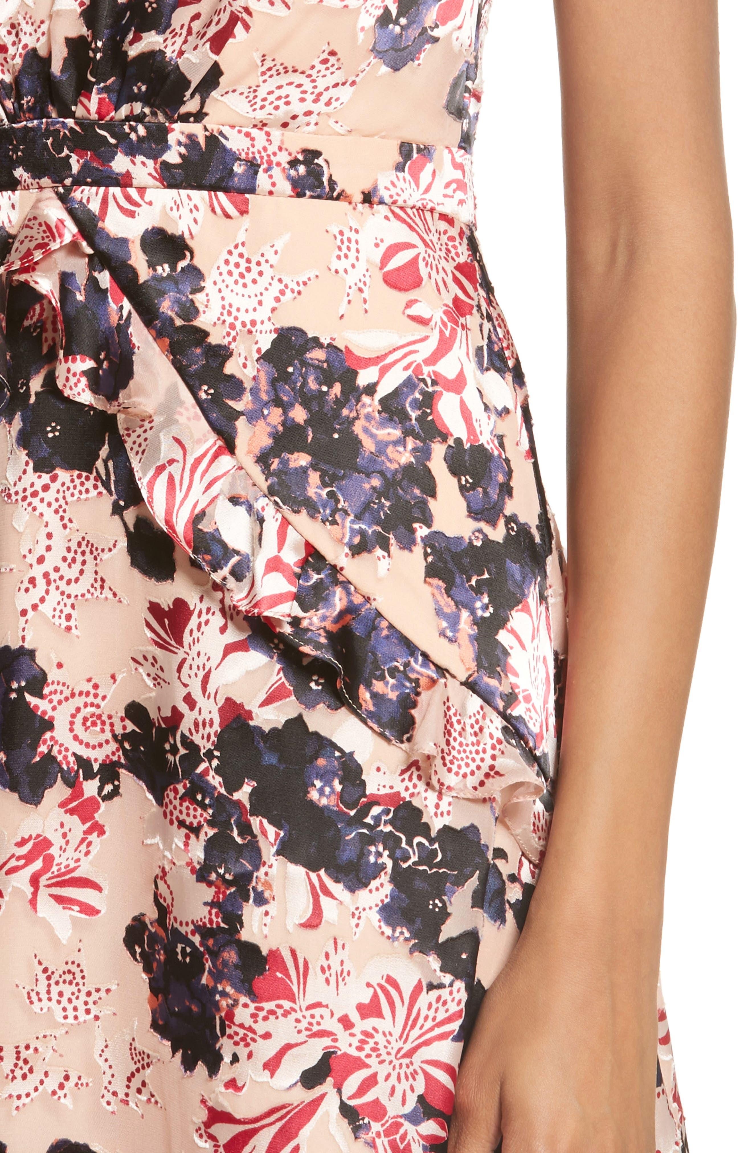 Lara Fit & Flare Dress,                             Alternate thumbnail 4, color,                             670
