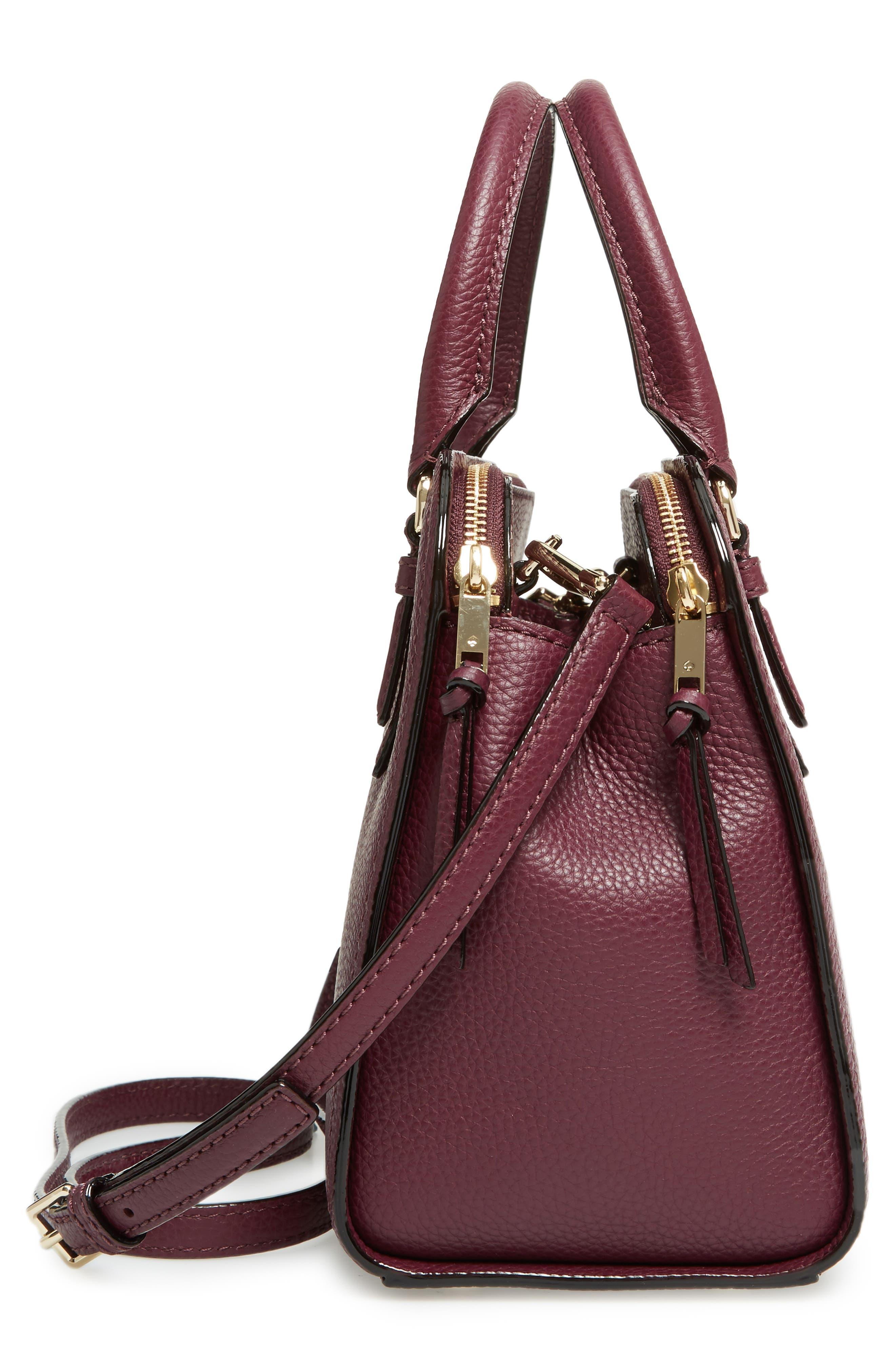 jackson street small kiernan leather top handle satchel,                             Alternate thumbnail 5, color,                             545