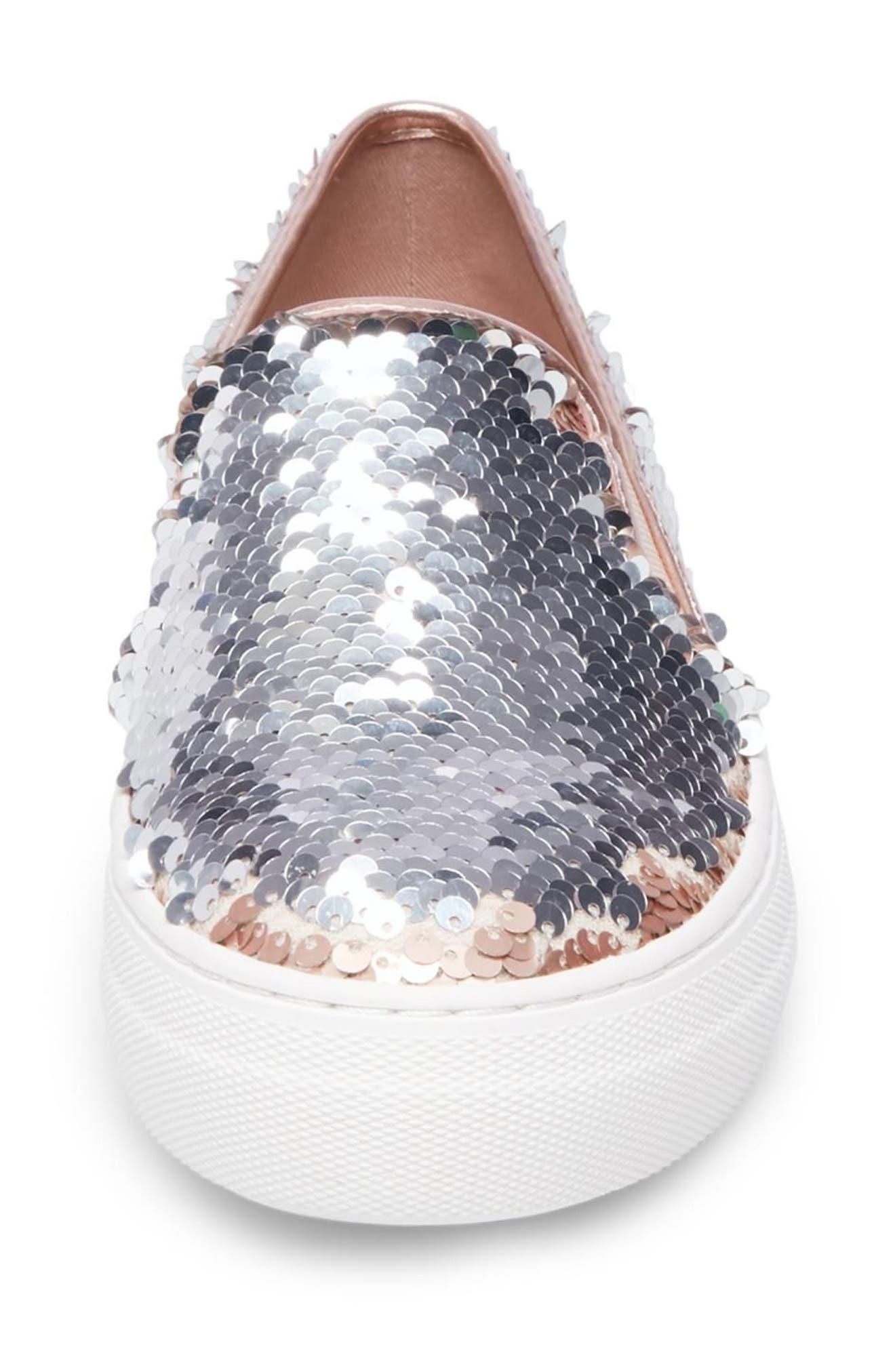 Gills Sequined Slip-On Platform Sneaker,                             Alternate thumbnail 8, color,