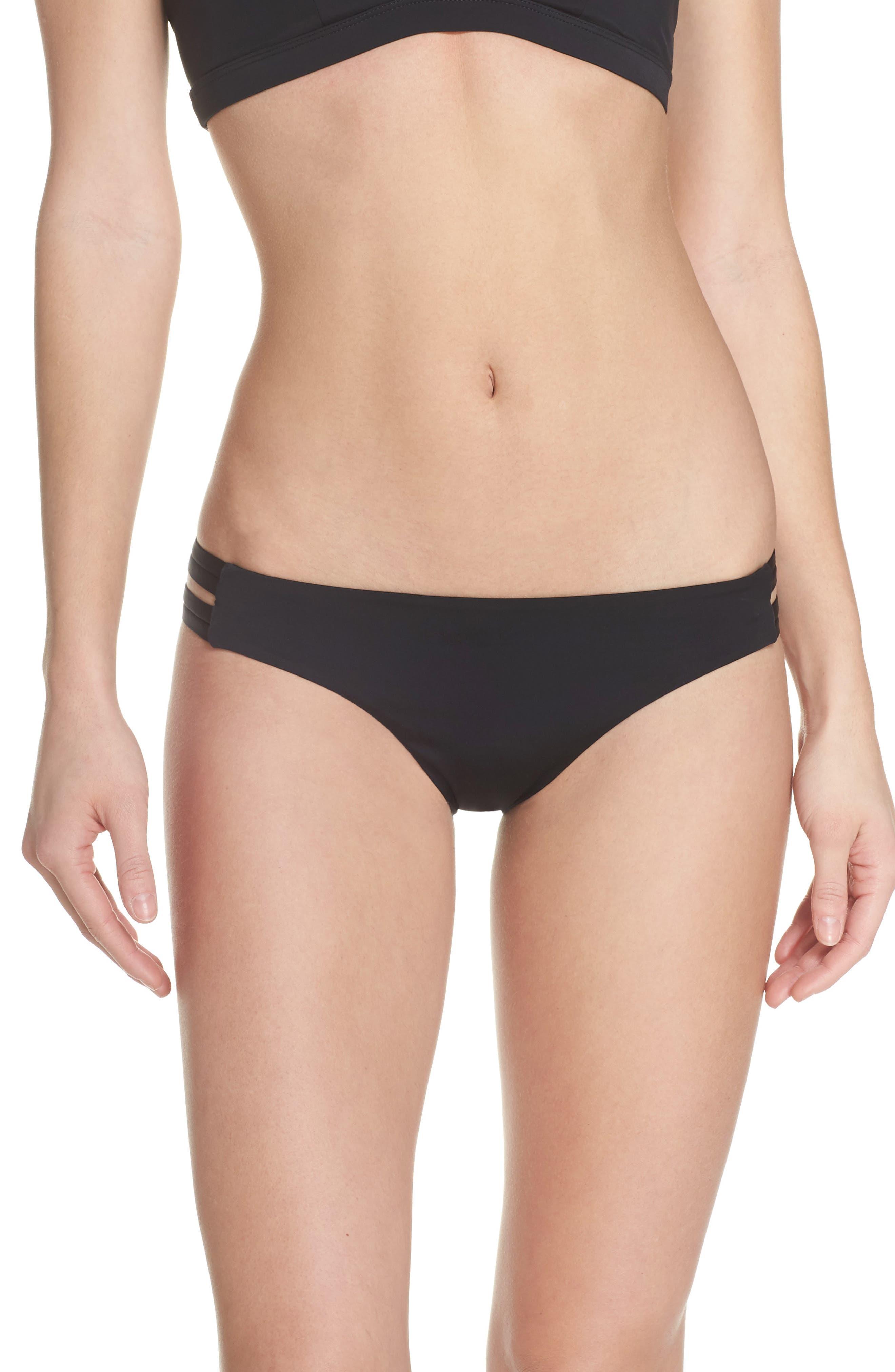 Quick Dry Max Surf Bikini Bottoms,                         Main,                         color, BLACK