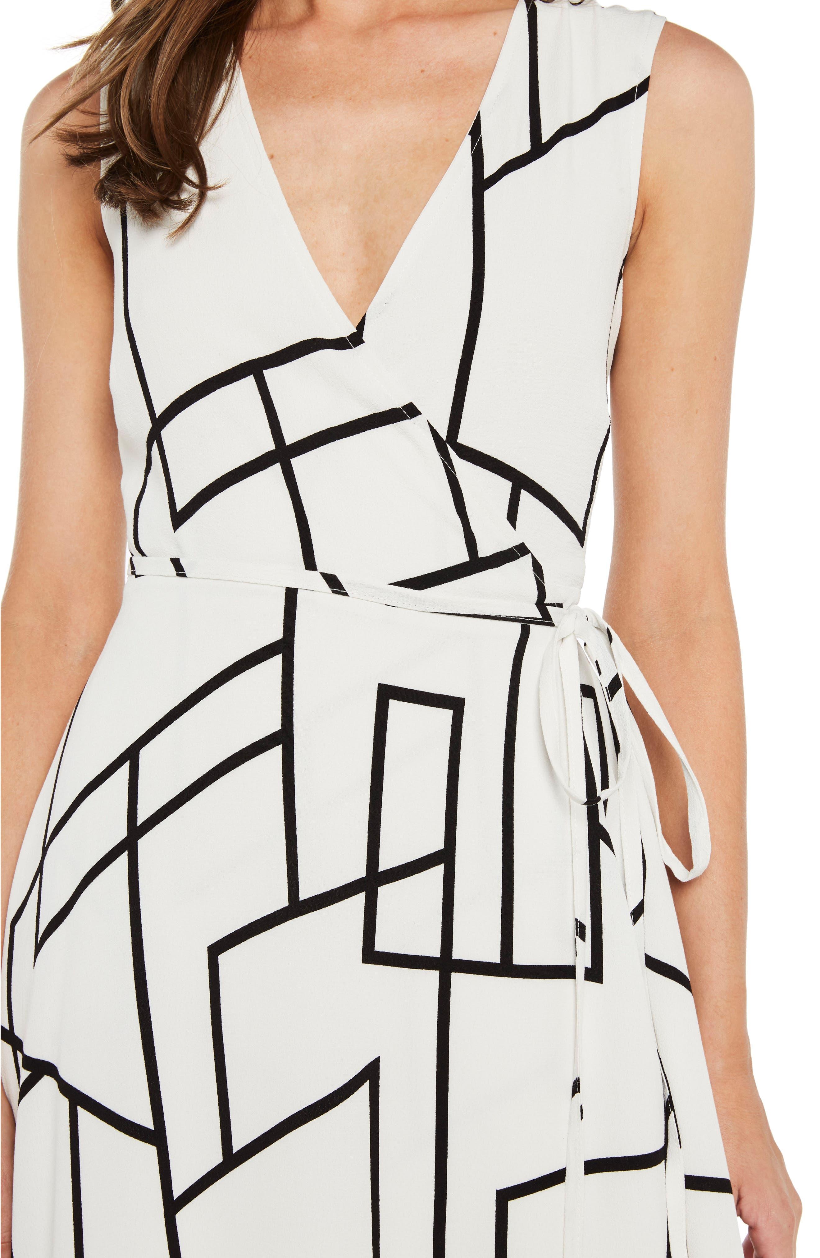 Asymmetrical Wrap Dress,                             Alternate thumbnail 4, color,                             100