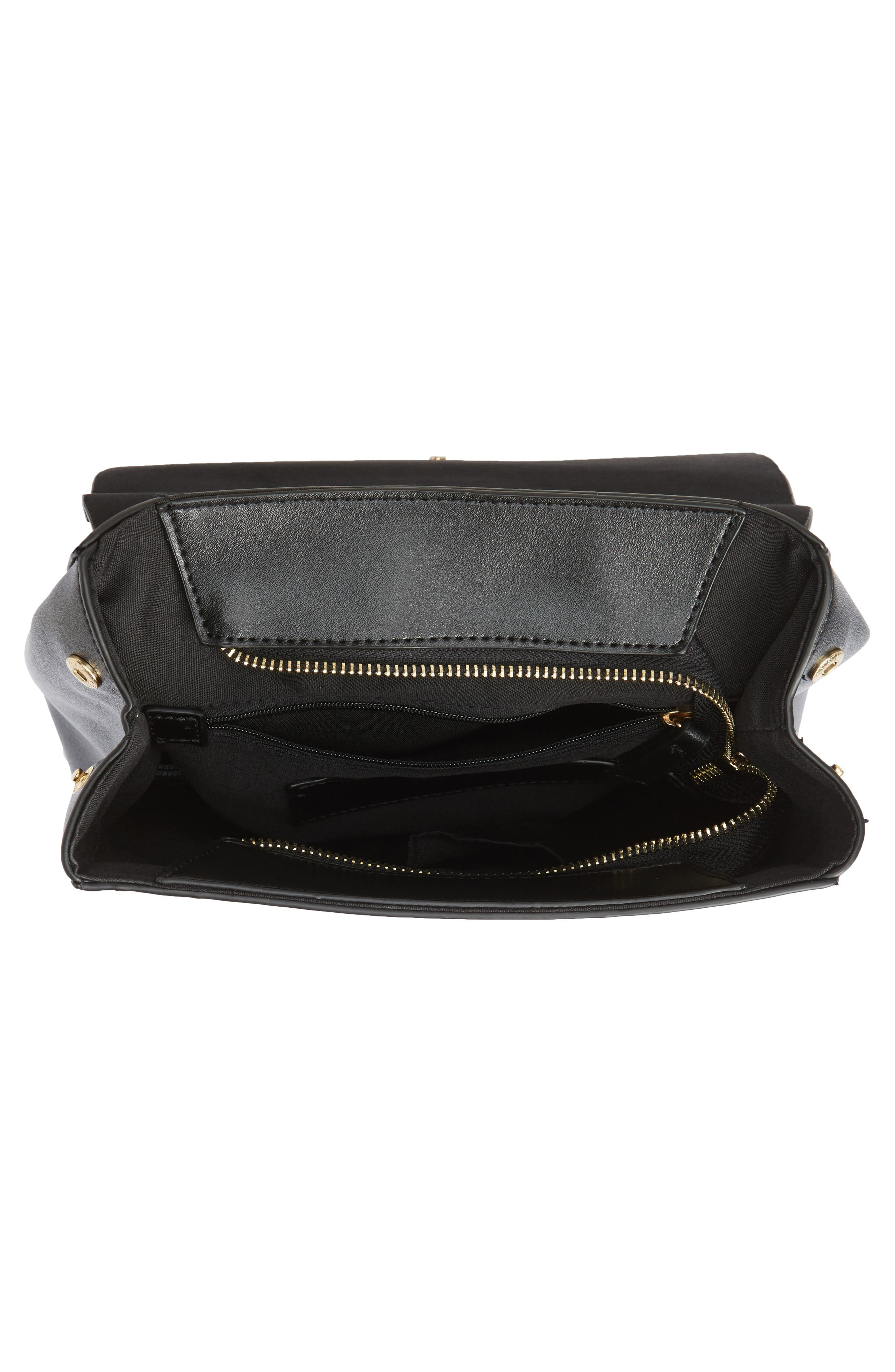 Mini Scandi Faux Leather Backpack,                             Alternate thumbnail 4, color,                             001