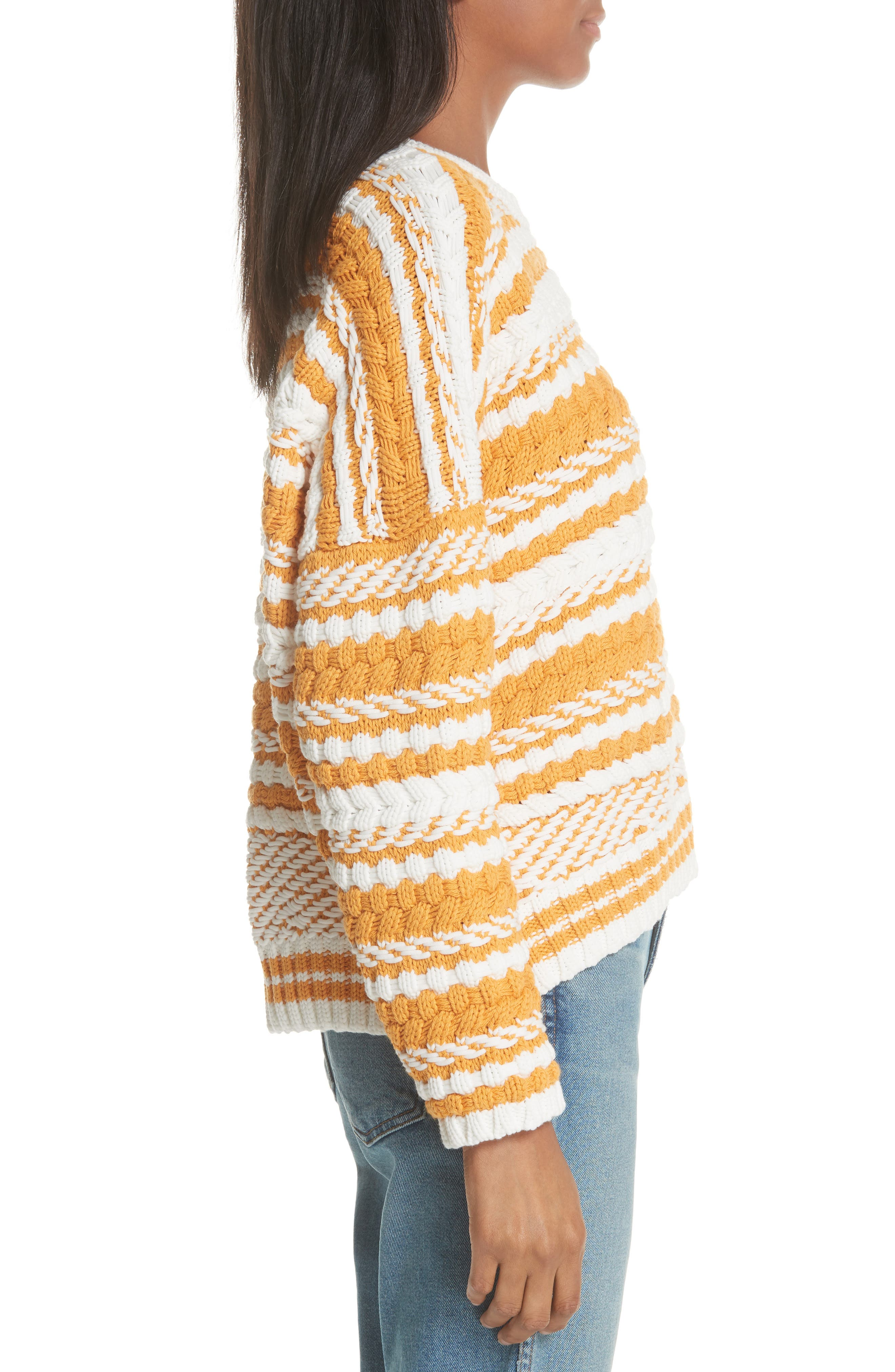 Modeste Chunky Stripe Sweater,                             Alternate thumbnail 3, color,                             800