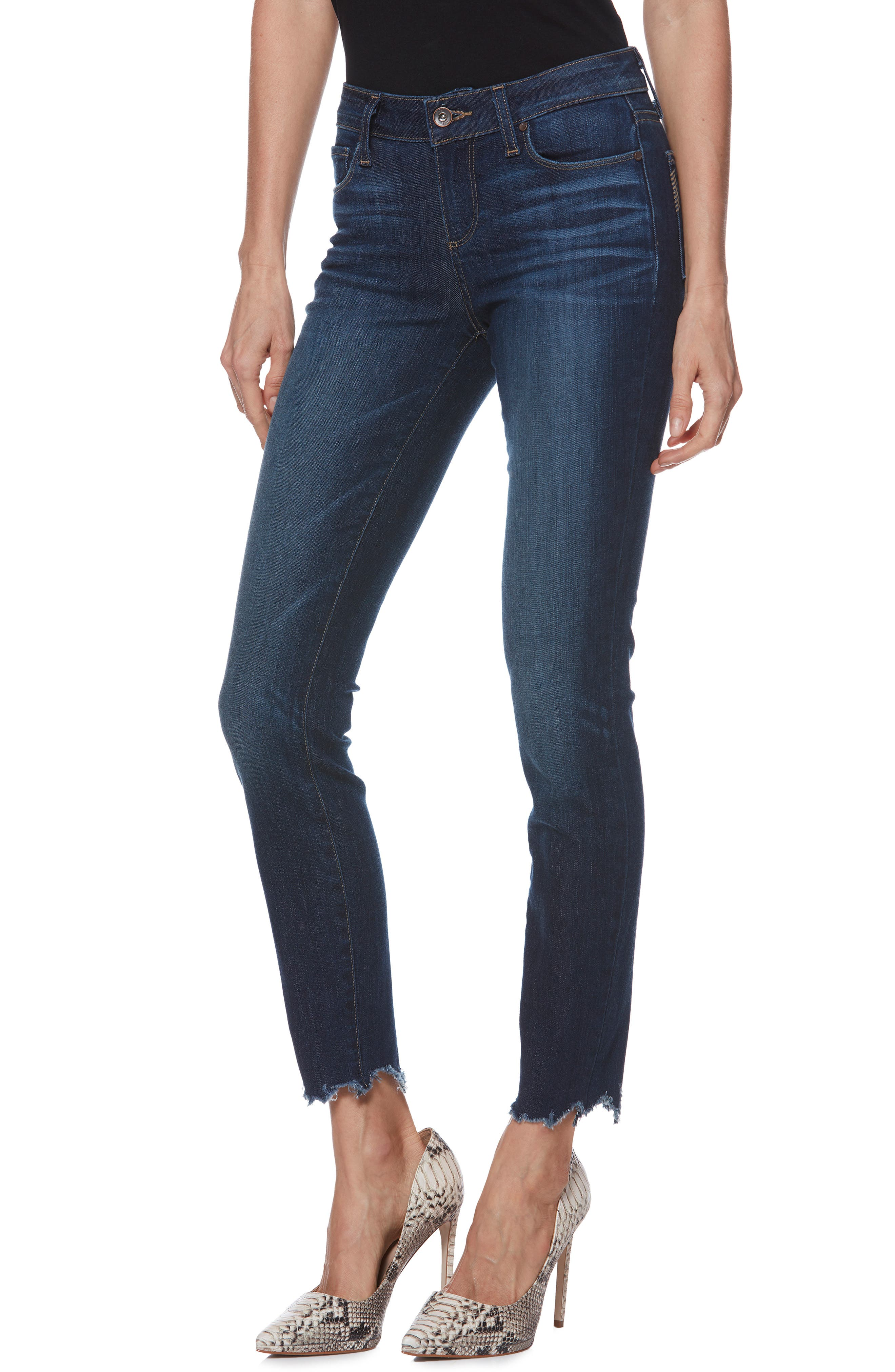 Verdugo Transcend Vintage Ankle Skinny Jeans,                         Main,                         color, 400