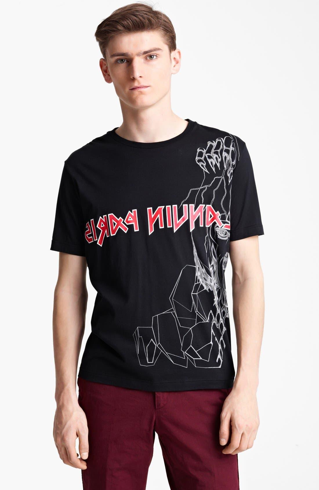 LANVIN,                             'Reverse Paris' Graphic T-Shirt,                             Main thumbnail 1, color,                             001