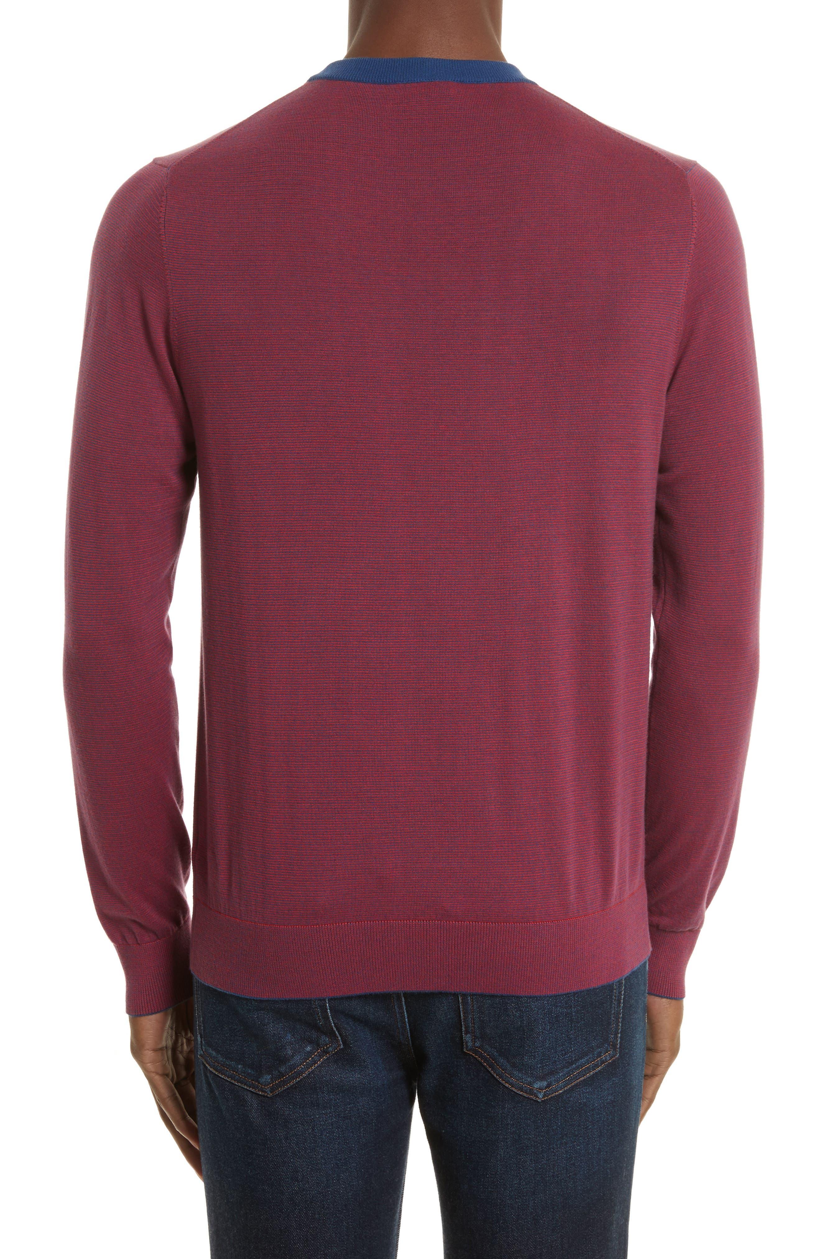 Ministripe Crewneck Sweater,                             Alternate thumbnail 2, color,                             415