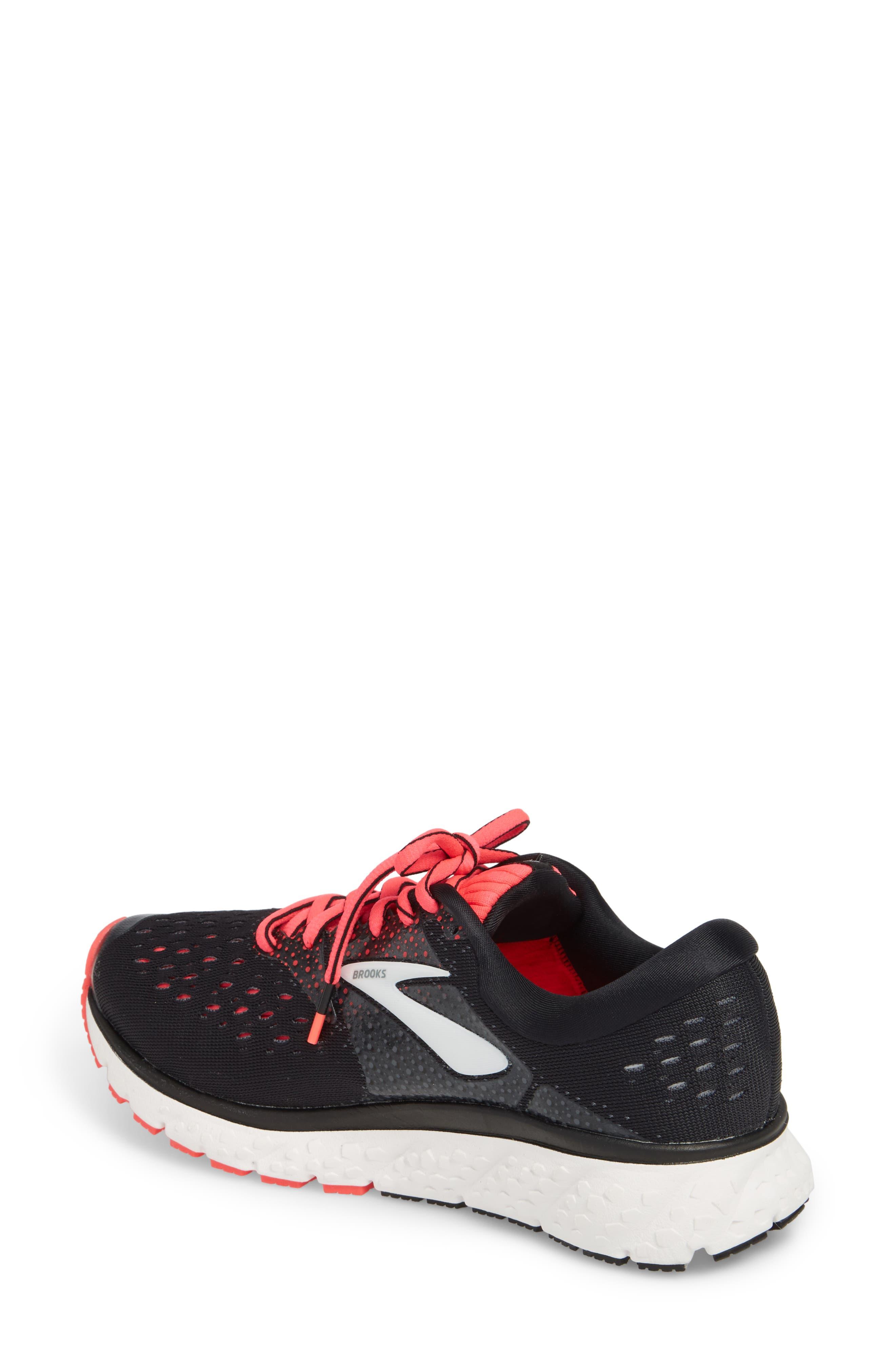 Glycerin 16 Running Shoe,                             Alternate thumbnail 2, color,                             BLACK/ PINK/ GREY