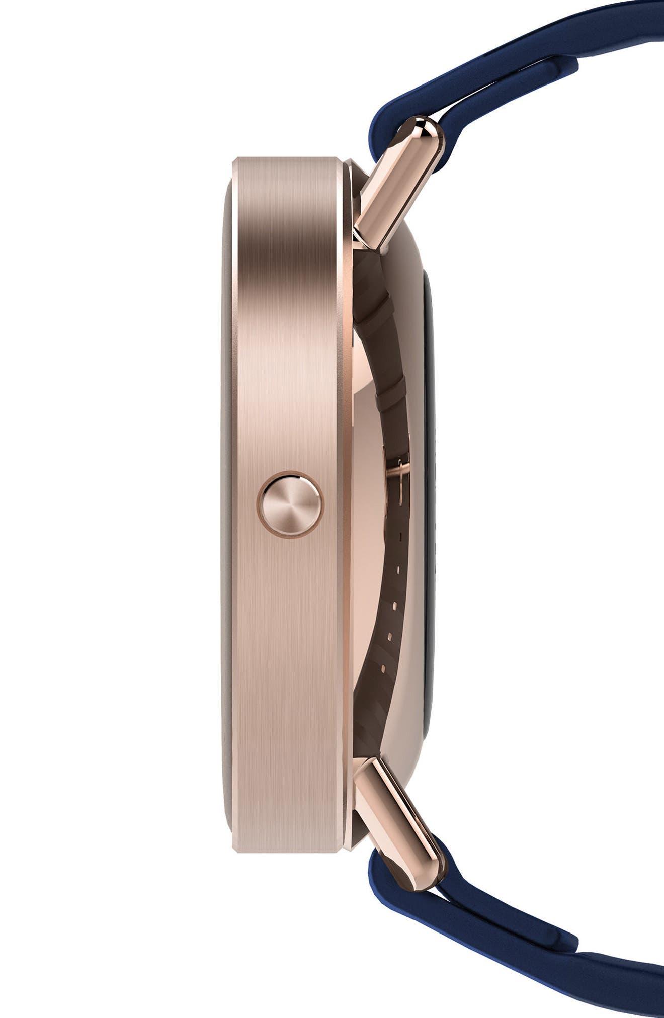 Vapor Sport Strap Smart Watch, 44mm,                             Alternate thumbnail 3, color,                             NAVY