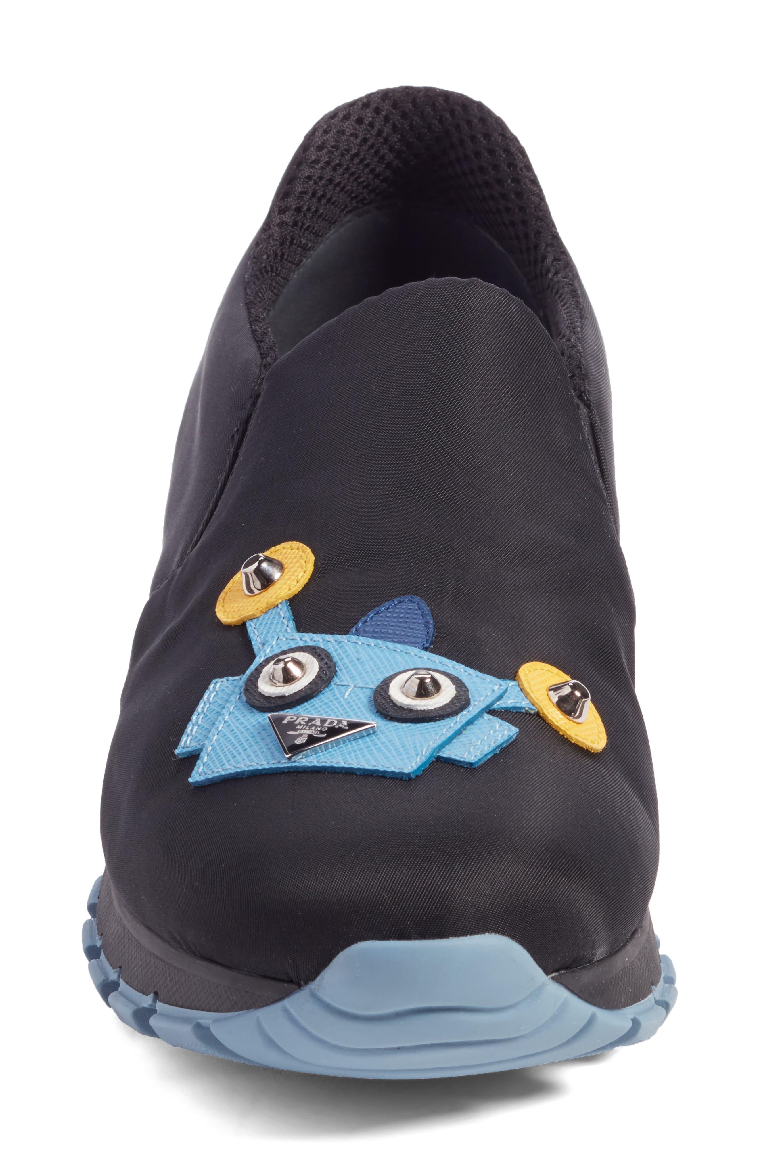 Robot Slip-On Sneaker,                             Alternate thumbnail 4, color,                             001