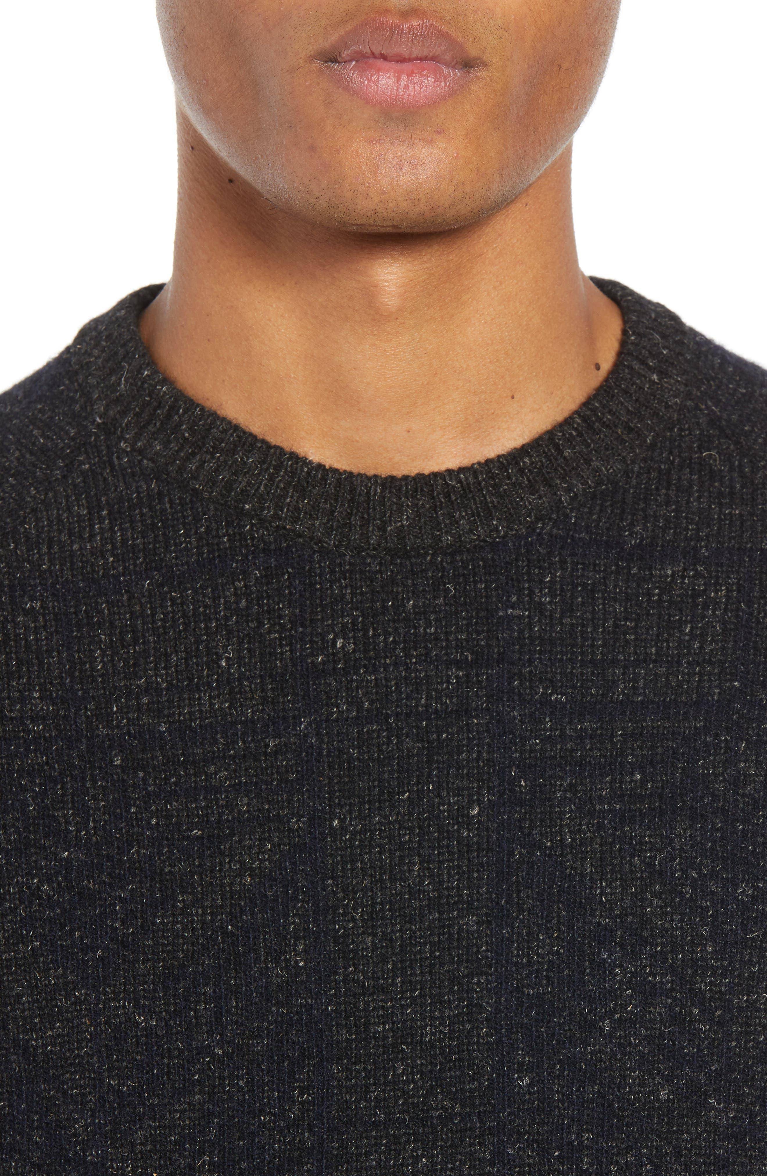 Regular Fit Crewneck Sweater,                             Alternate thumbnail 4, color,                             CHARCOAL