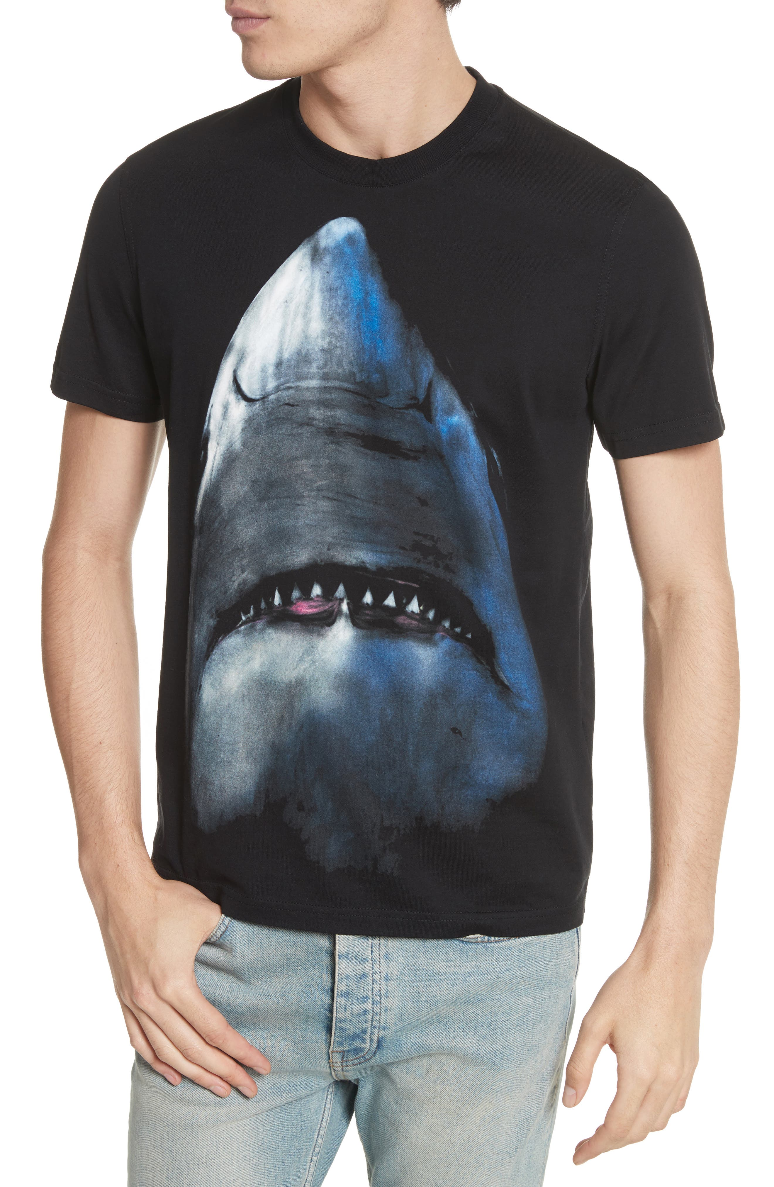 Shark T-Shirt,                             Alternate thumbnail 4, color,                             BLACK