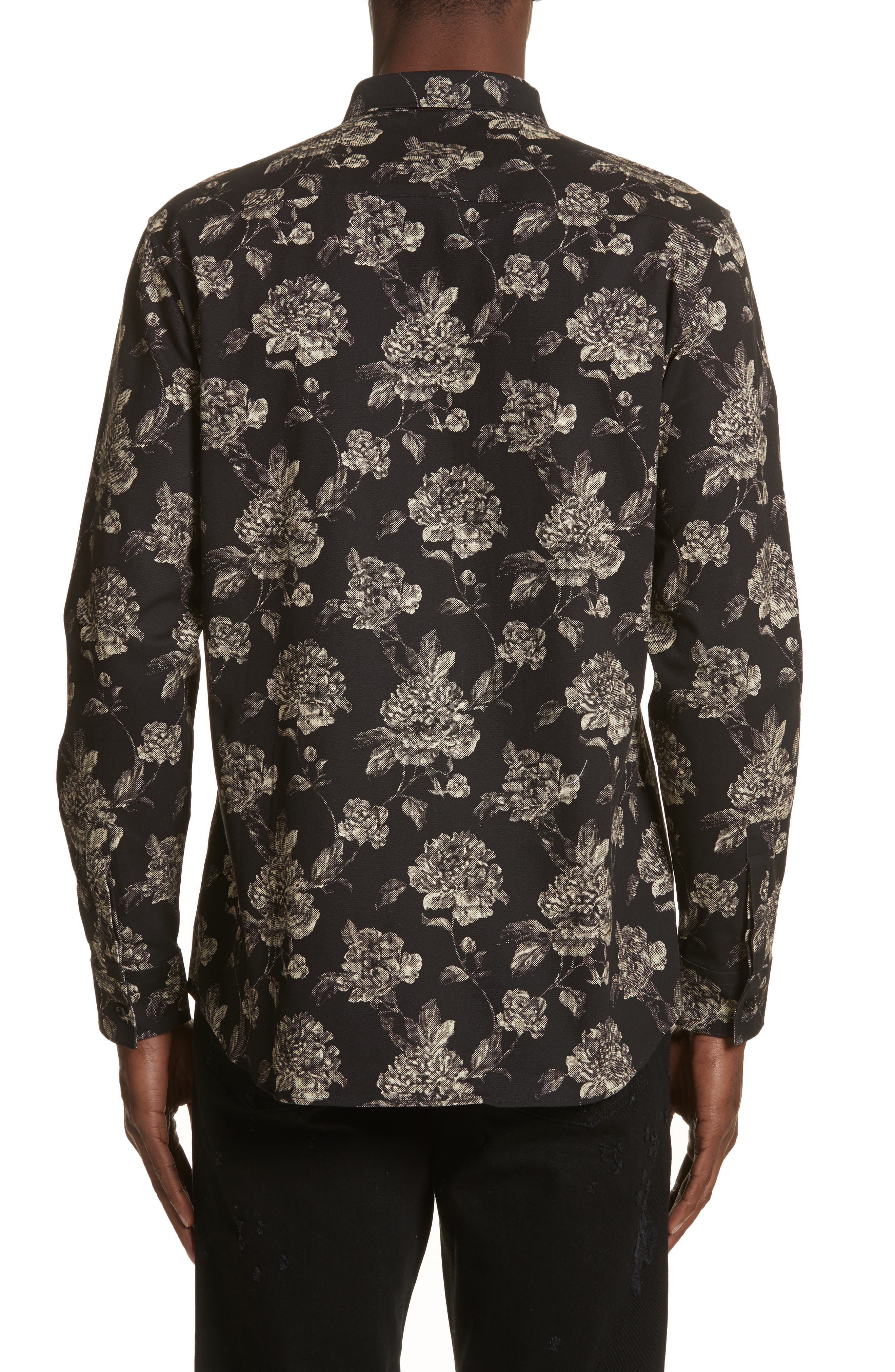 Floral Print Shirt,                             Alternate thumbnail 2, color,                             007