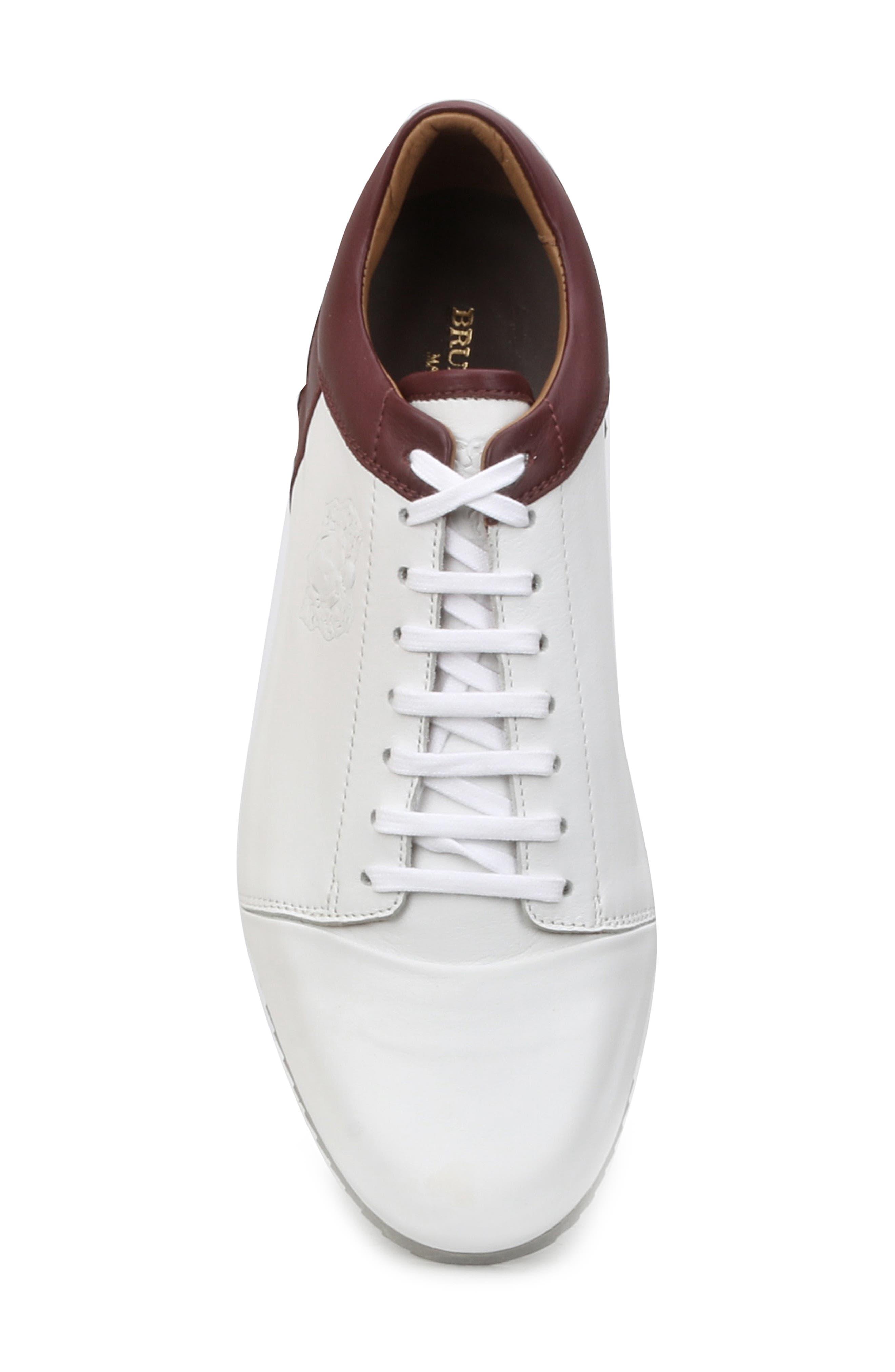 Santana Sneaker,                             Alternate thumbnail 5, color,                             WHITE/ BORDEAUX
