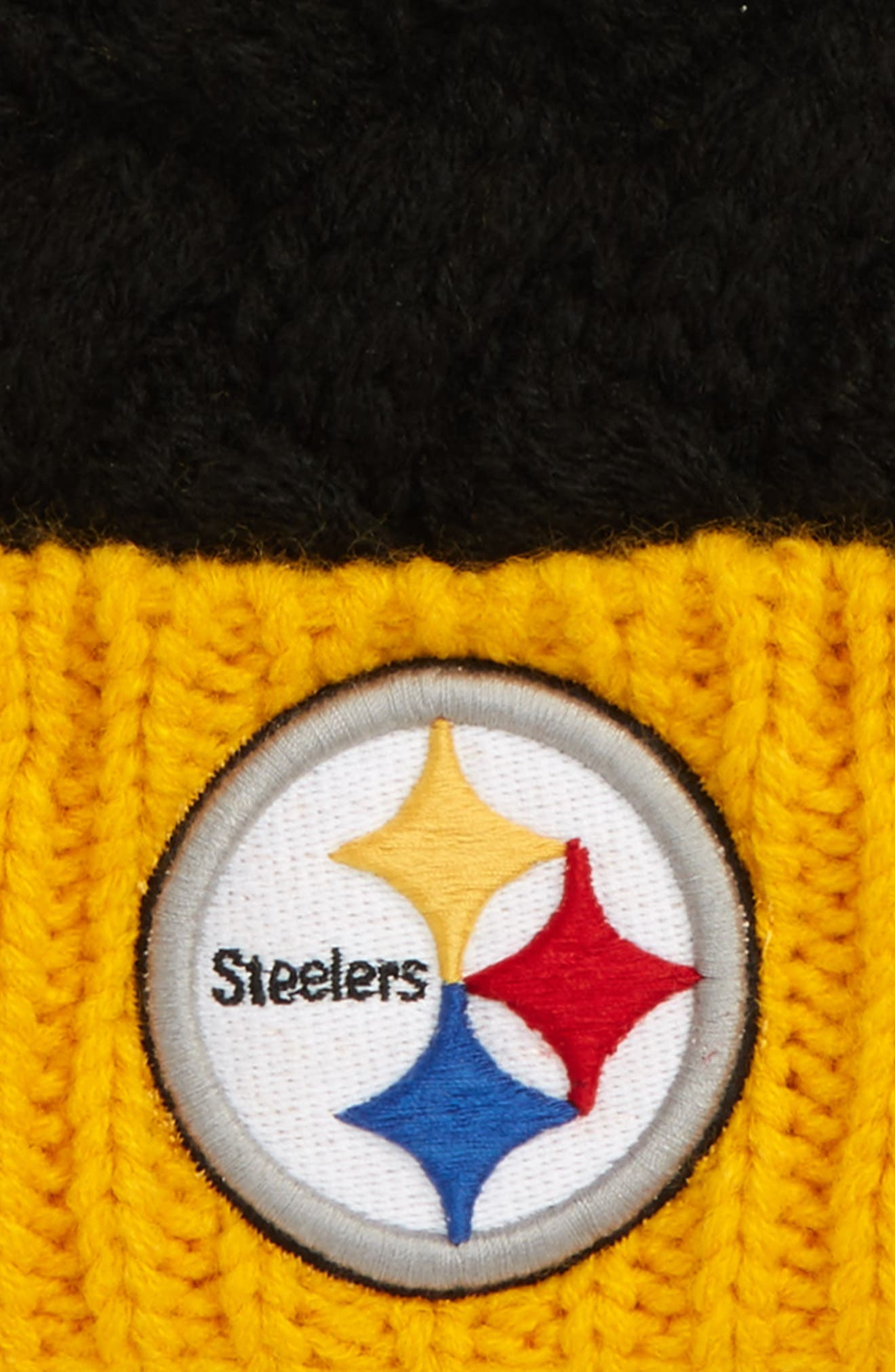 Matterhorn Pittsburgh Steelers Beanie,                             Alternate thumbnail 2, color,                             001