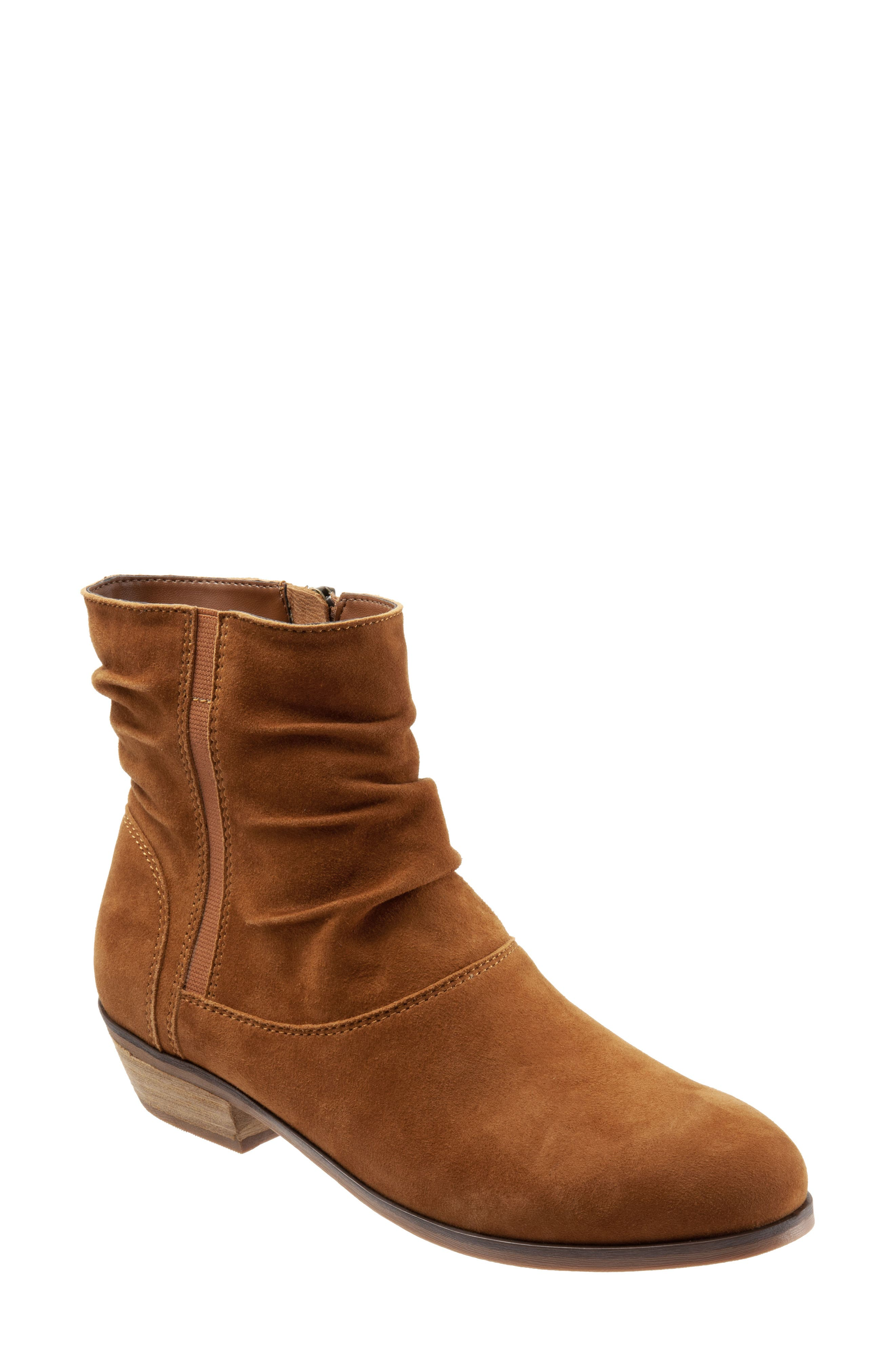 SOFTWALK<SUP>®</SUP>,                             Rochele Bootie,                             Main thumbnail 1, color,                             BRANDY SUEDE