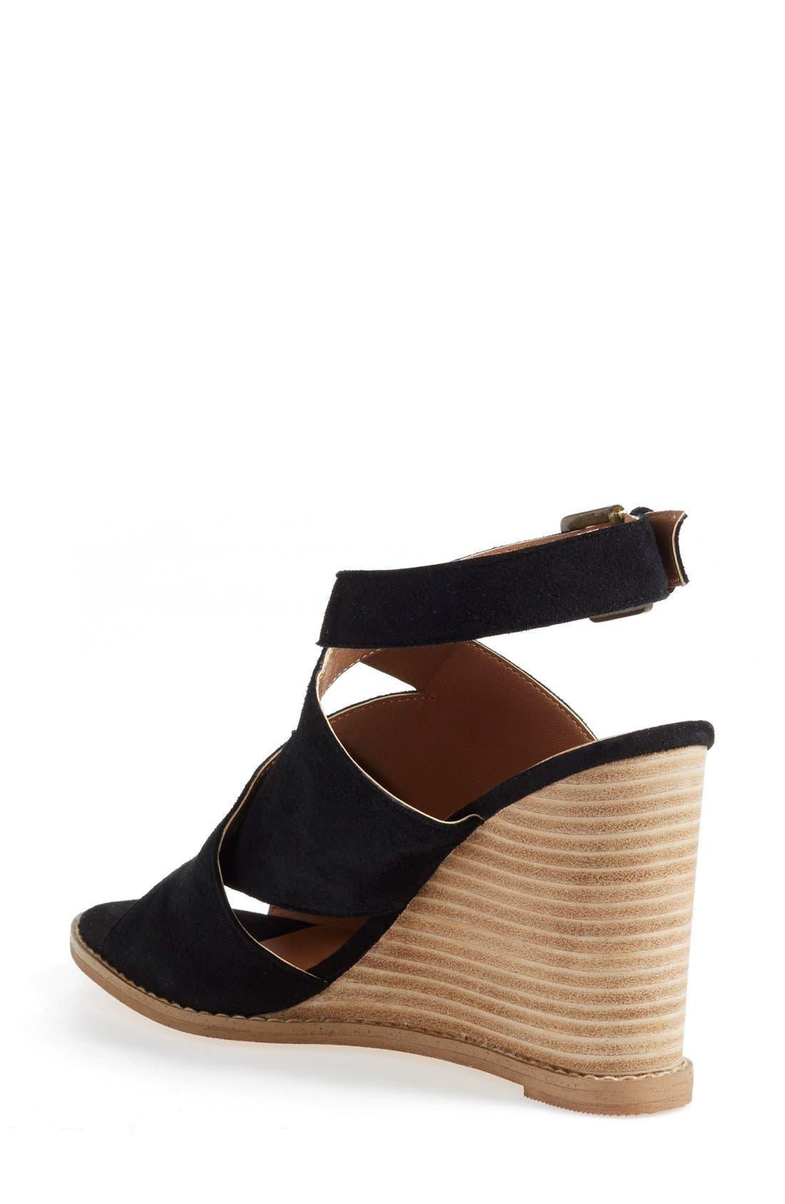Caslon 'Hallie' Sandal,                             Alternate thumbnail 2, color,                             001