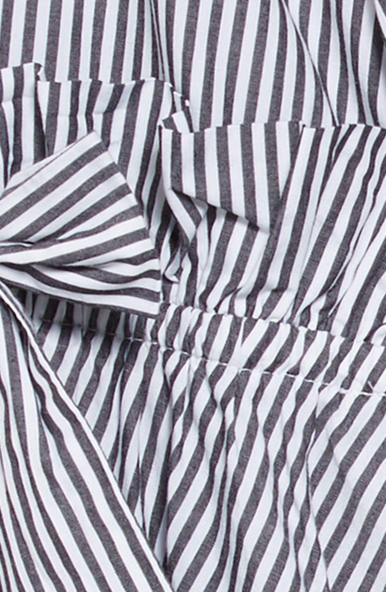 HABITUAL,                             Rosie Bell Sleeve Stripe Dress,                             Alternate thumbnail 3, color,                             100