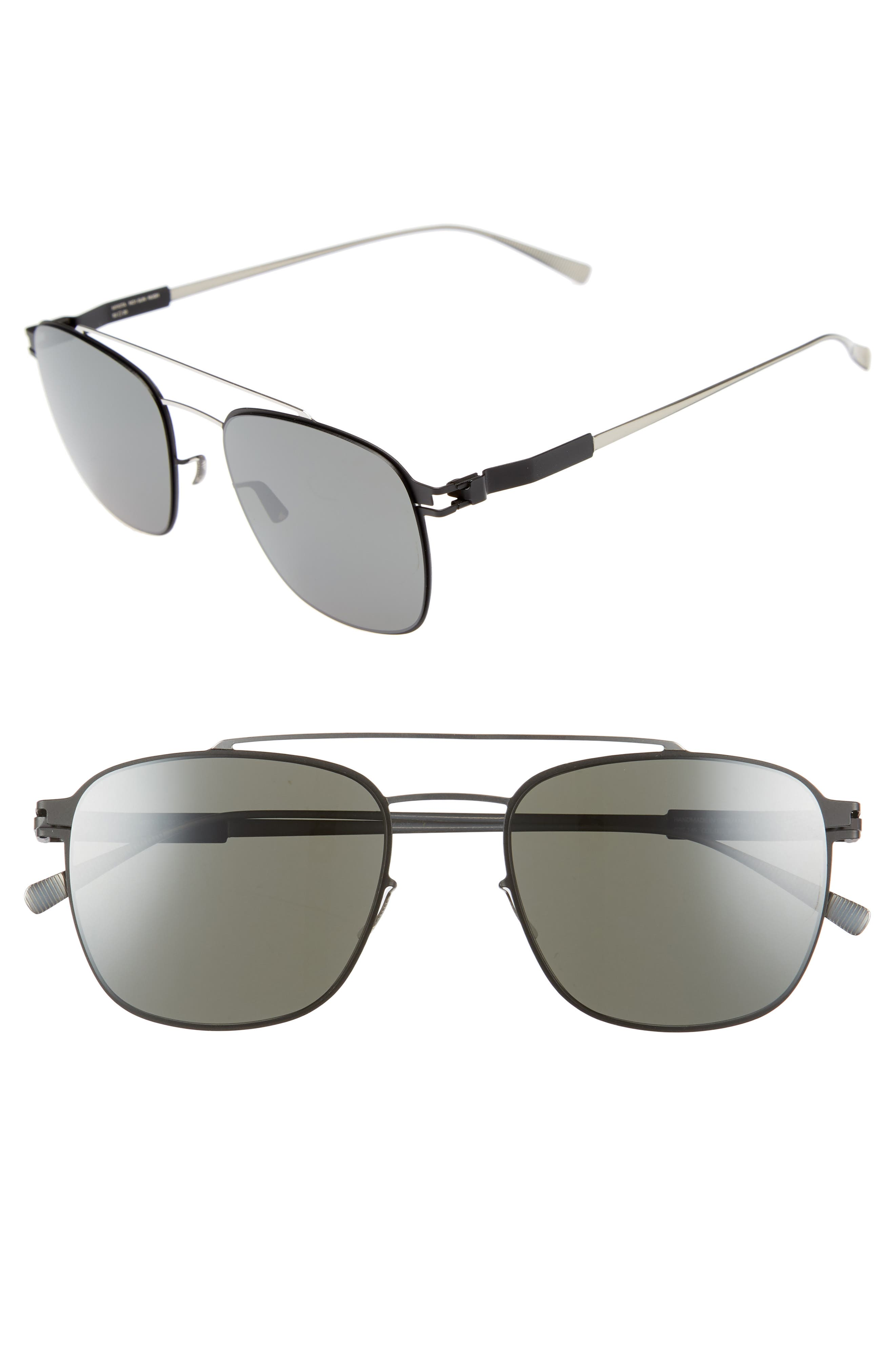Hugh 52mm Mirrored Sunglasses,                             Main thumbnail 1, color,